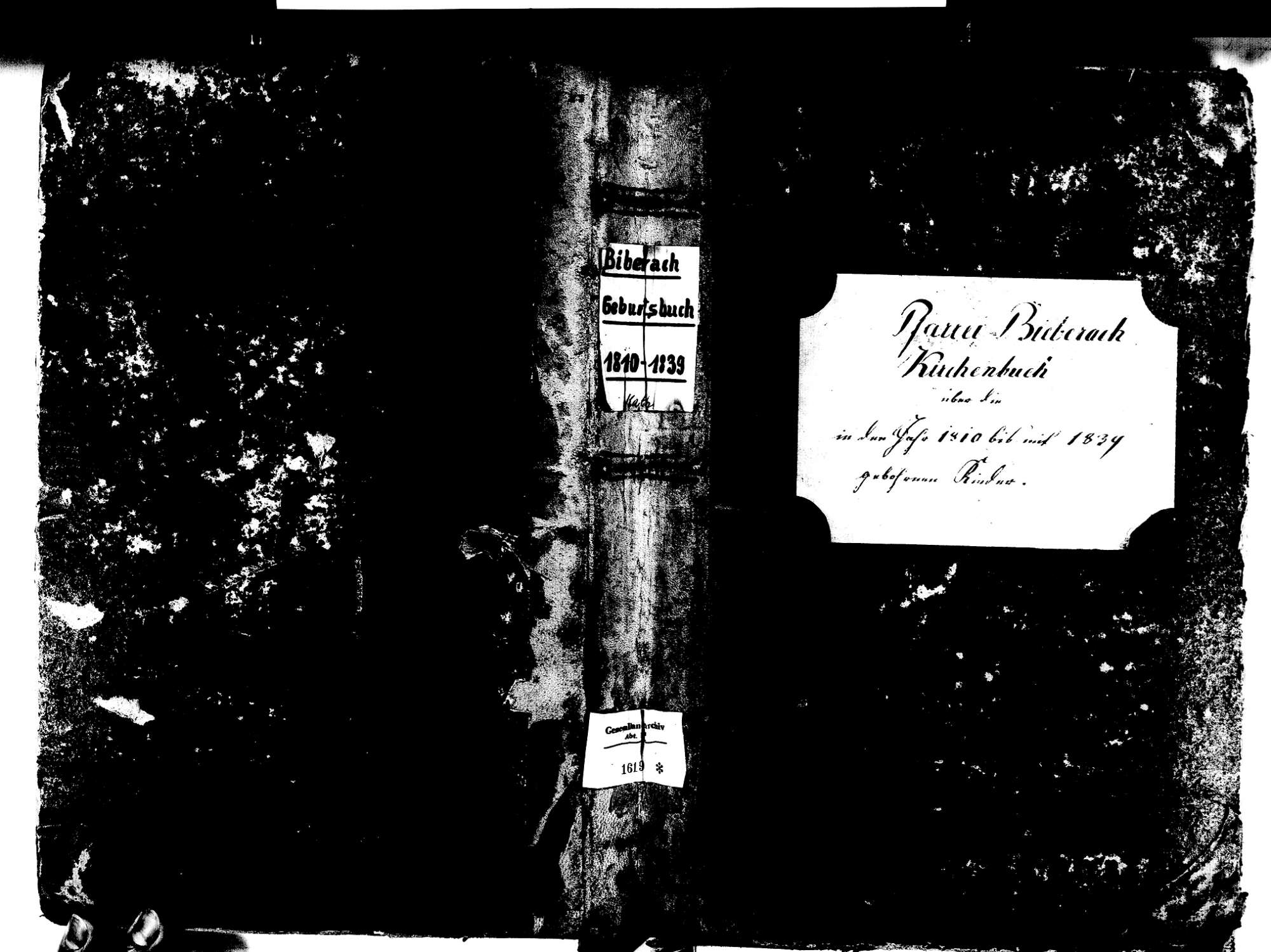 Biberach OG: Katholische Gemeinde: Geburtenbuch 1810-1839 Enthält: Einzelne Evangelische Einträge, Bild 1