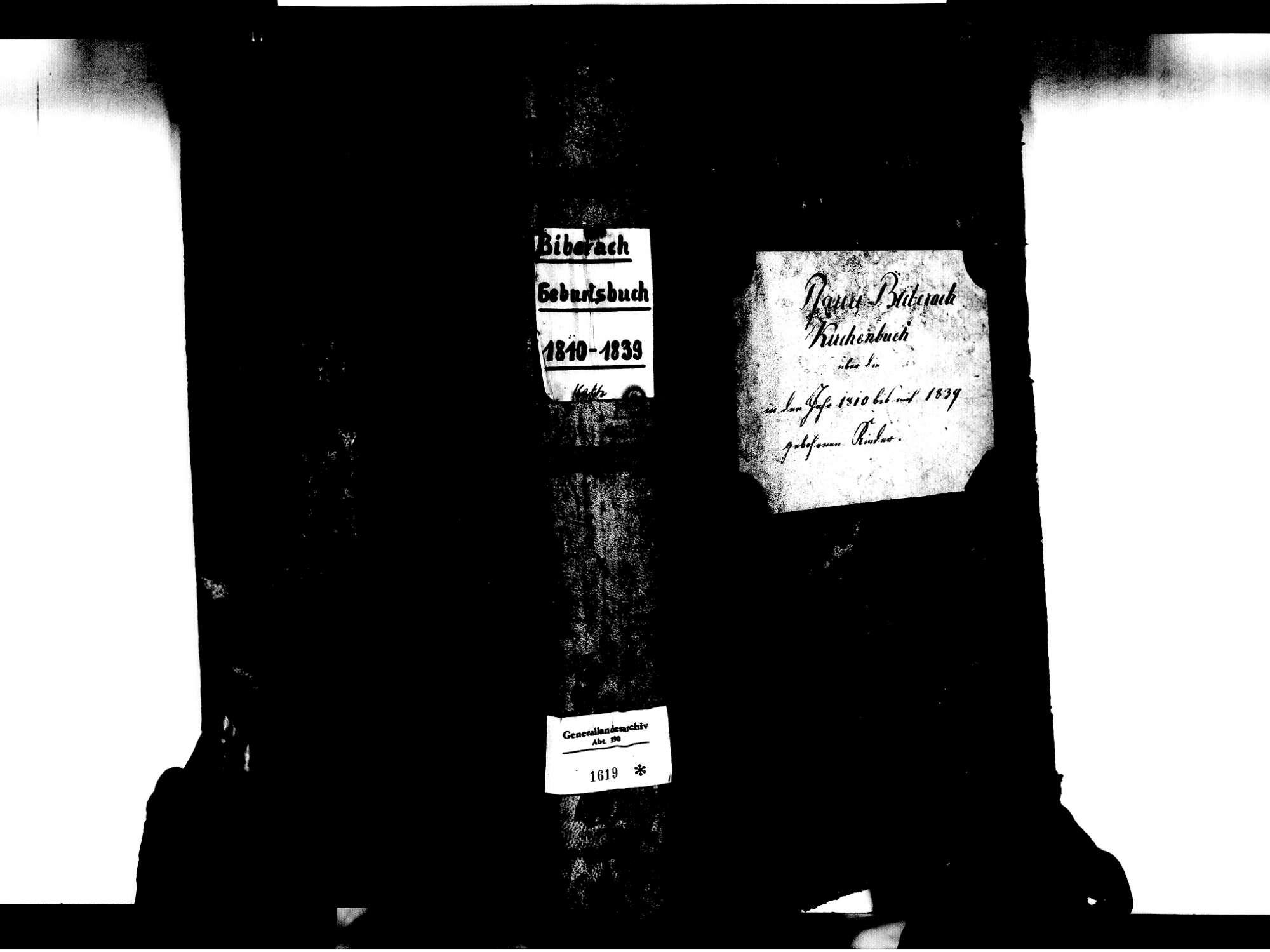 Biberach OG: Katholische Gemeinde: Geburtenbuch 1810-1839 Enthält: Einzelne Evangelische Einträge, Bild 2