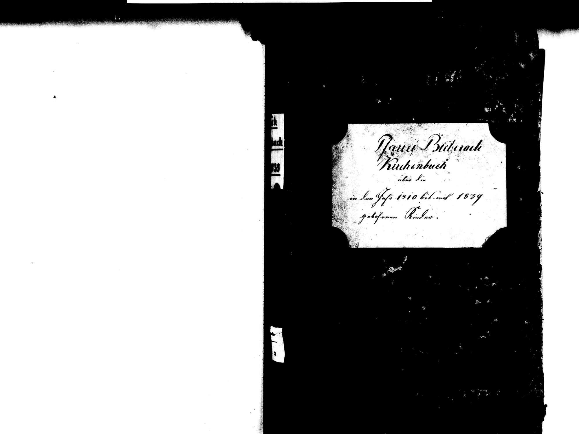 Biberach OG: Katholische Gemeinde: Geburtenbuch 1810-1839 Enthält: Einzelne Evangelische Einträge, Bild 3