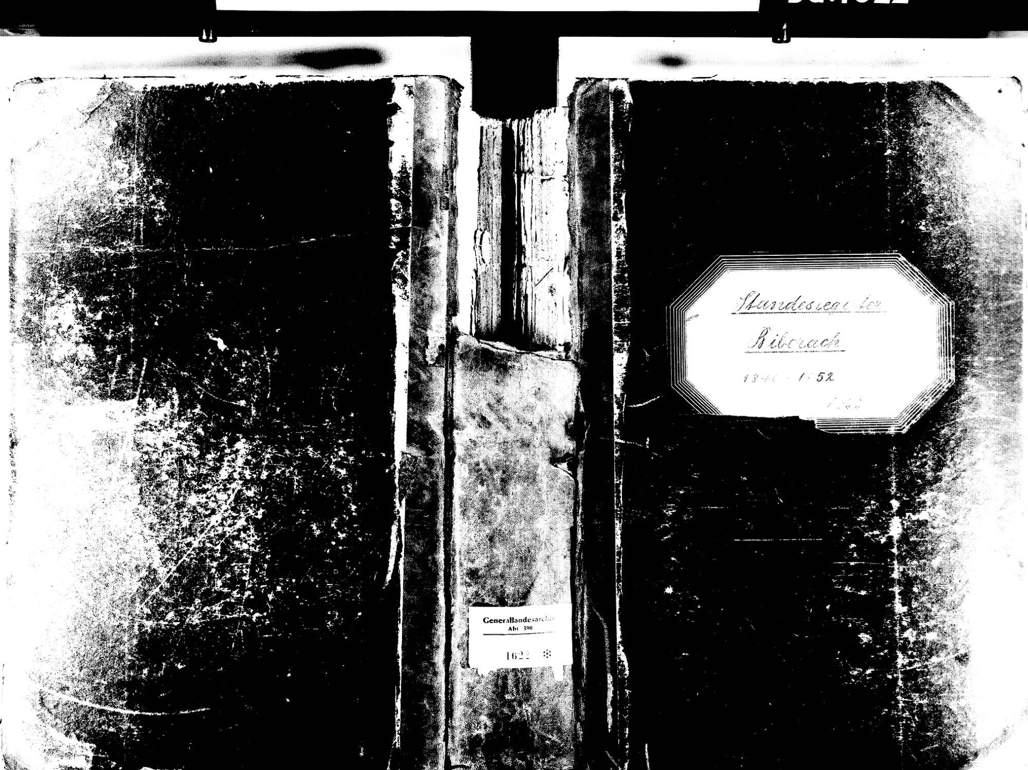 Biberach OG: Katholische Gemeinde: Standesbuch 1840-1852 Enthält: Einzelne Evangelische Einträge, Bild 1
