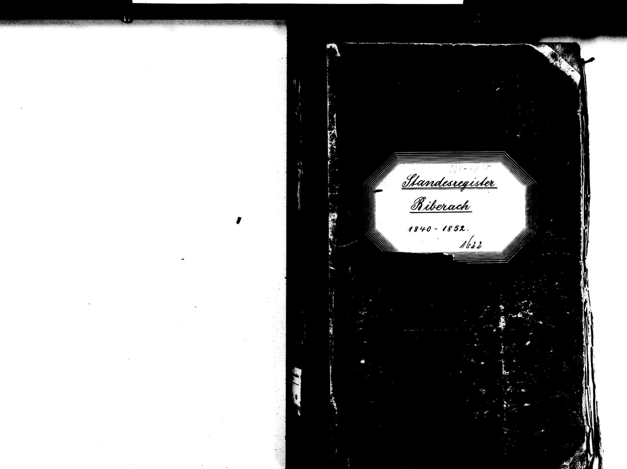 Biberach OG: Katholische Gemeinde: Standesbuch 1840-1852 Enthält: Einzelne Evangelische Einträge, Bild 2
