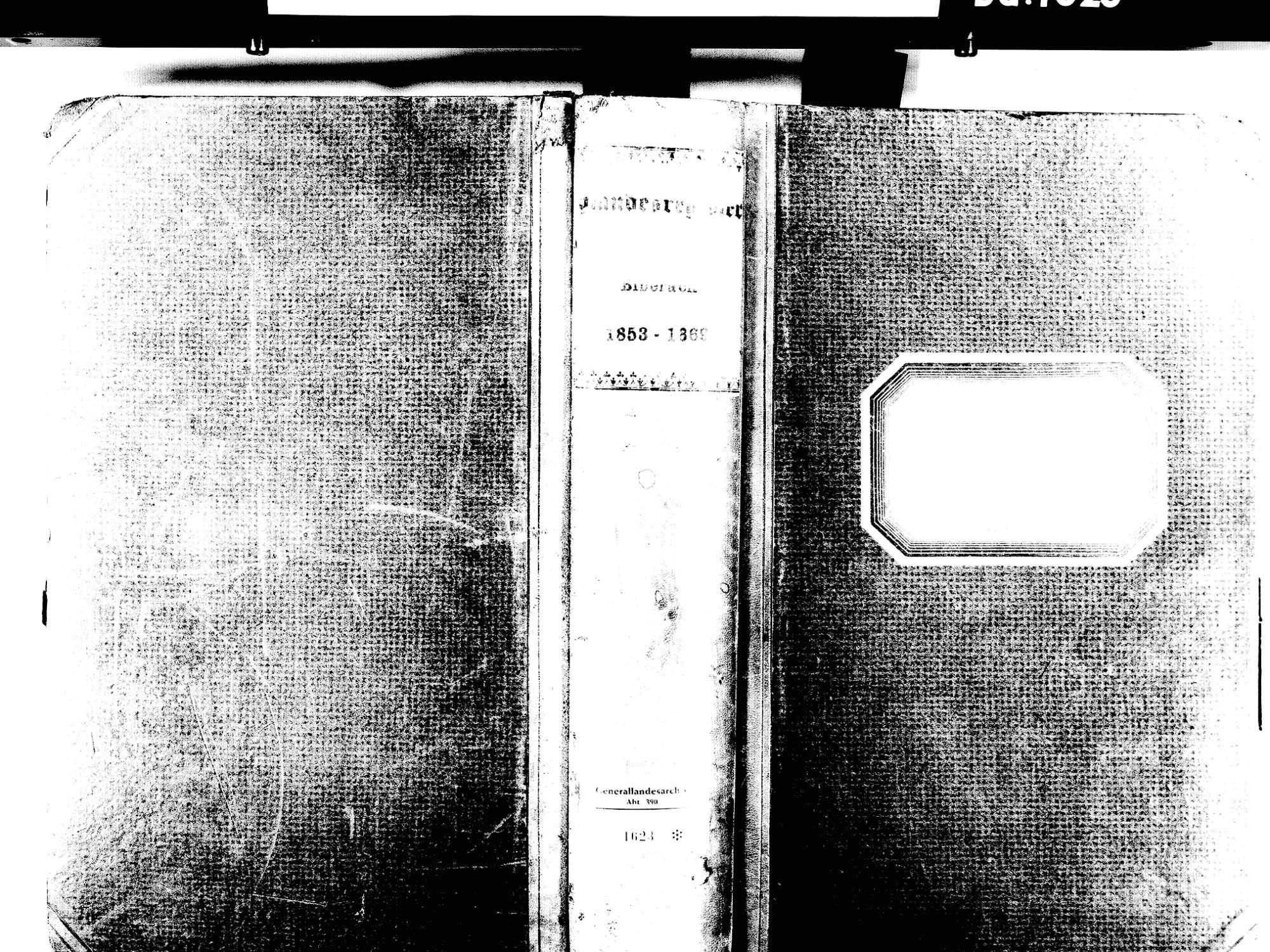 Biberach OG: Katholische Gemeinde: Standesbuch 1853-1869 Enthält: Einzelne Evangelische Einträge, Bild 1