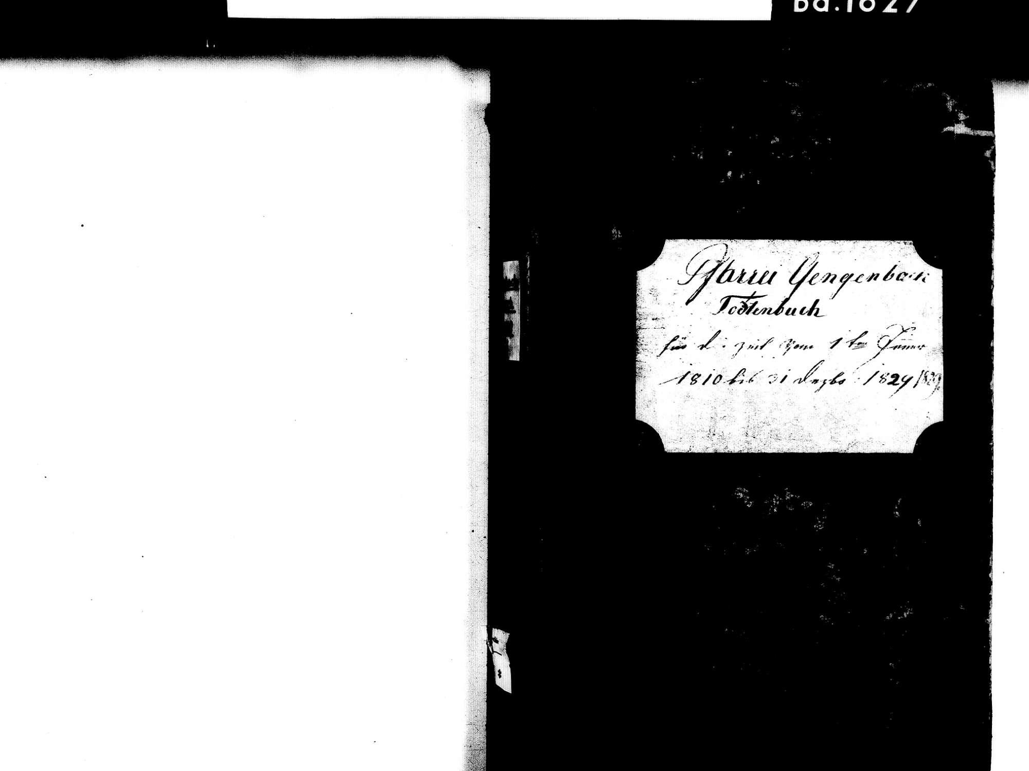 Gengenbach OG; Katholische Gemeinde: Sterbebuch 1810-1829 Enthält: Einzelne Evangelische Einträge, Bild 2