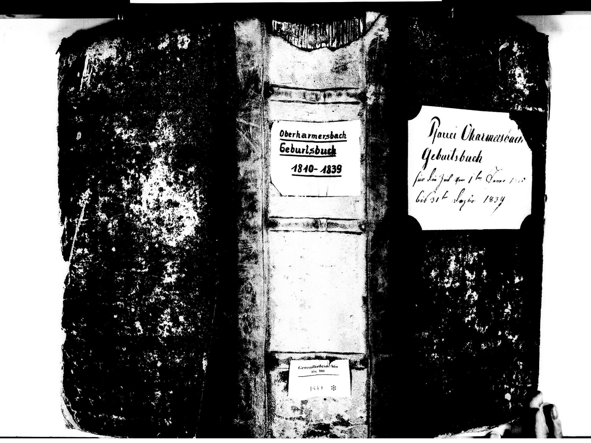 Oberharmersbach OG; Katholische Gemeinde: Geburtenbuch 1810-1839, Bild 1