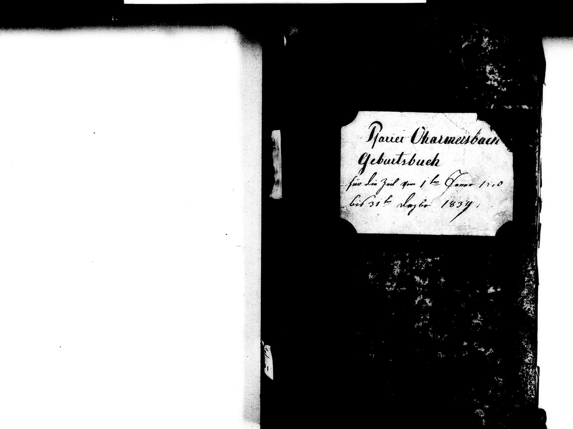 Oberharmersbach OG; Katholische Gemeinde: Geburtenbuch 1810-1839, Bild 3