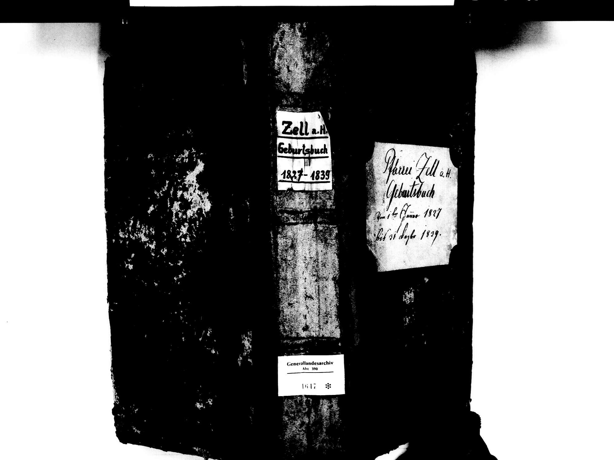 Zell am Harmersbach OG; Katholische Gemeinde: Geburtenbuch 1827-1839, Bild 1