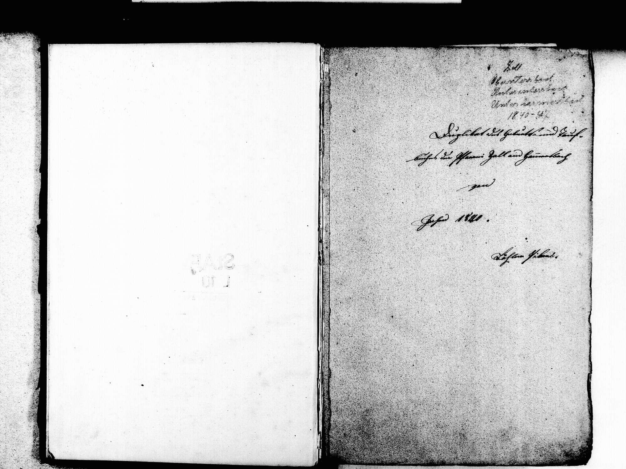 Zell am Harmersbach OG; Katholische Gemeinde: Standesbuch 1840-1847, Bild 2