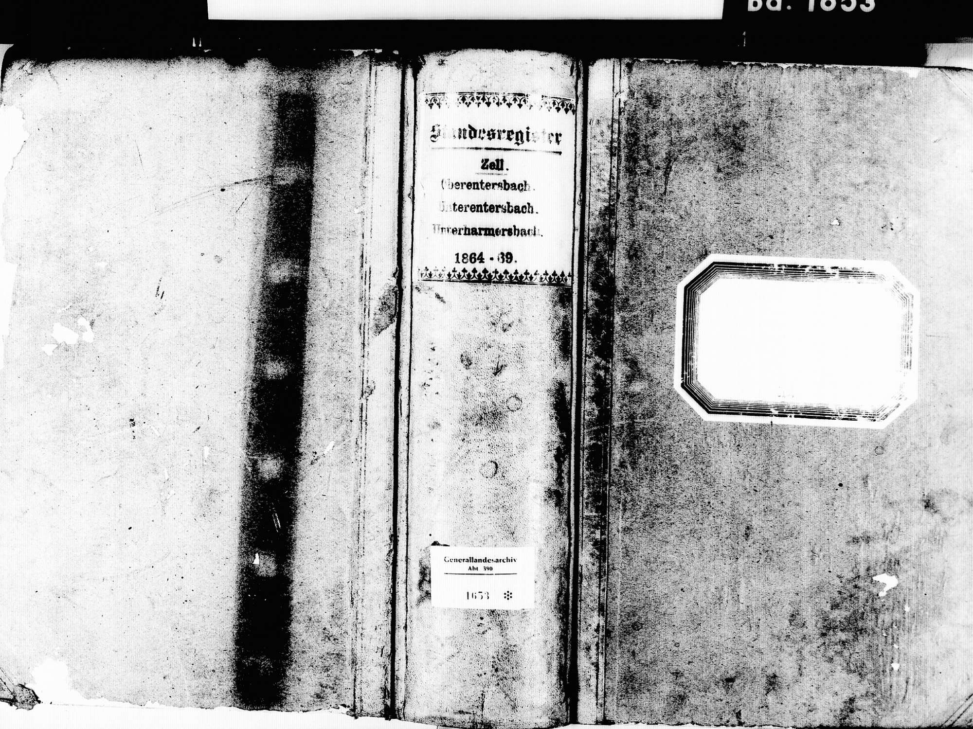 Zell am Harmersbach OG; Katholische Gemeinde: Standesbuch 1864-1869, Bild 1