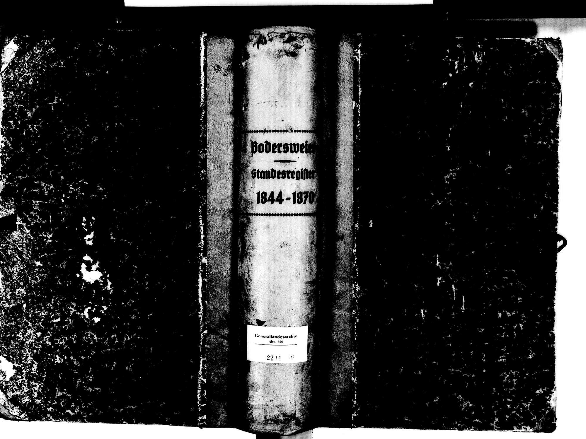 Bodersweier, Kehl OG; Evangelische Gemeinde: Standesbuch 1844-1870, Bild 2