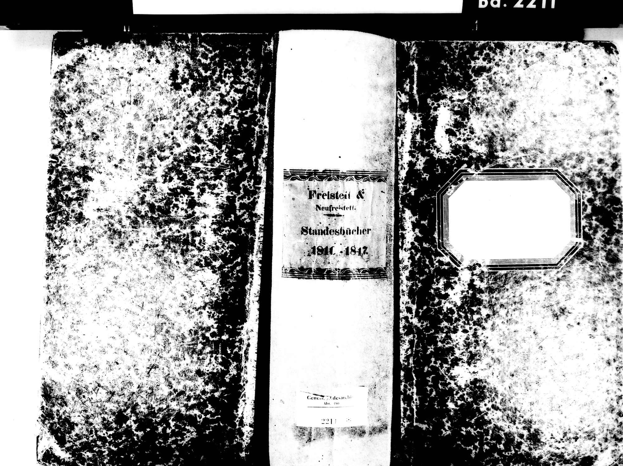 Freistett, Rheinau OG; Evangelische Gemeinde: Standesbuch 1810-1817, Bild 1
