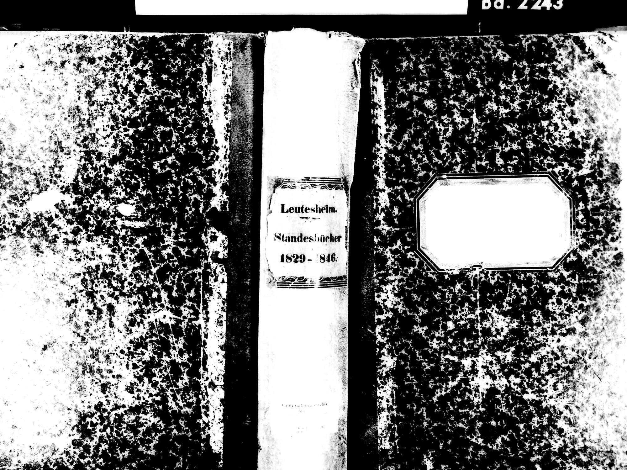 Leutesheim, Kehl OG; Evangelische Gemeinde: Standesbuch 1829-1846, Bild 1