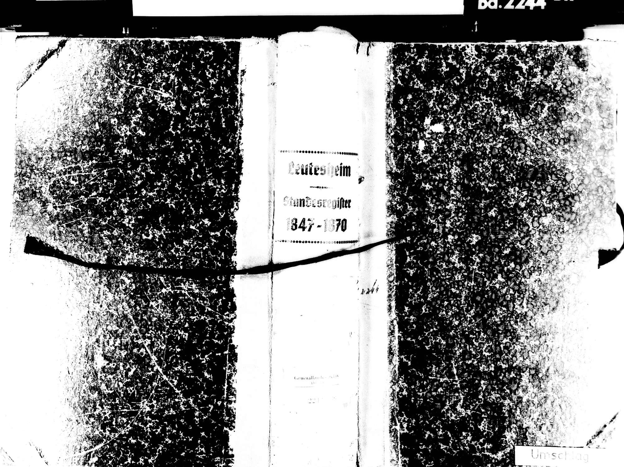 Leutesheim, Kehl OG; Evangelische Gemeinde: Standesbuch 1847-1870, Bild 1