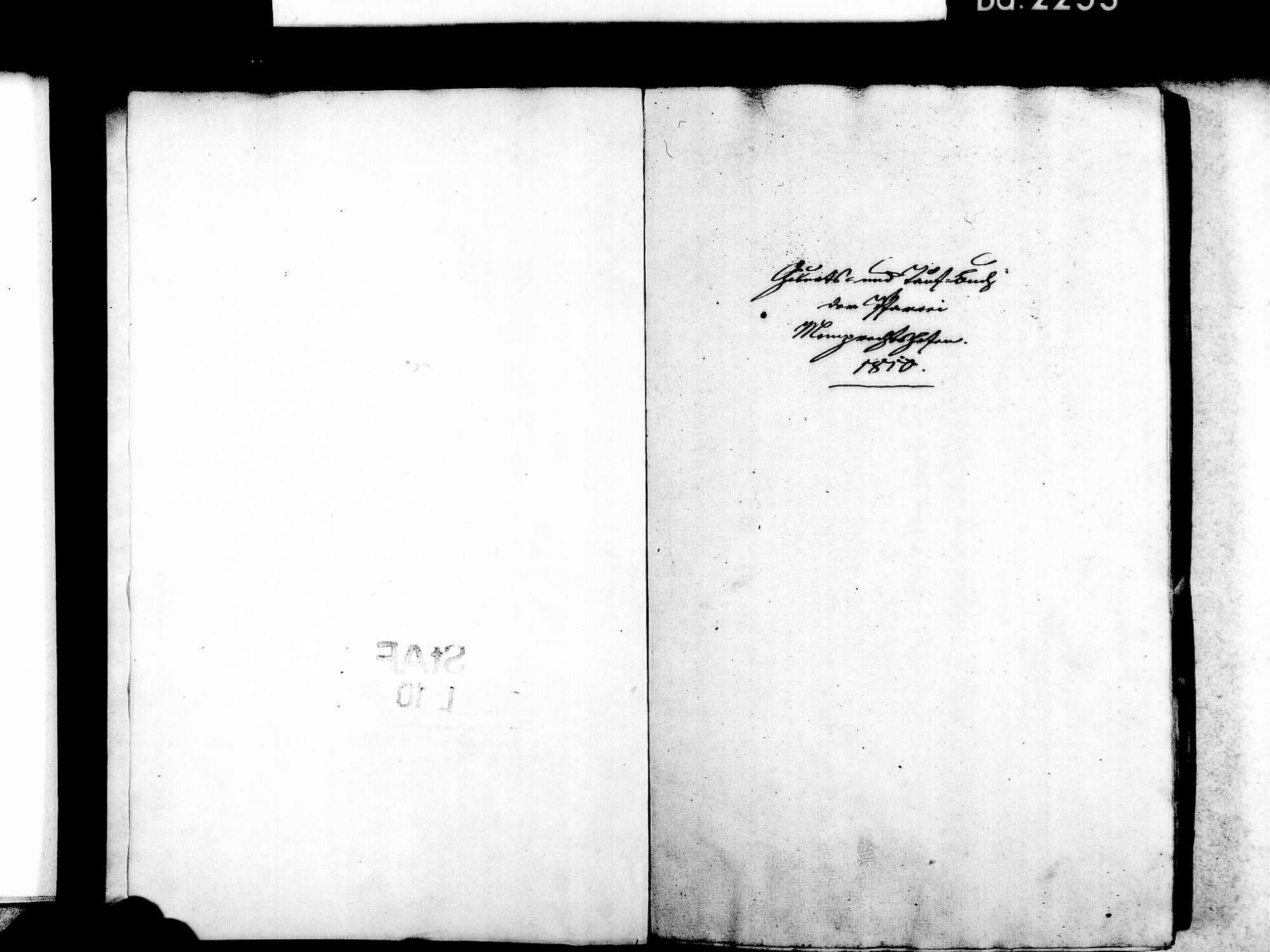 Memprechtshofen, Rheinau OG; Evangelische Gemeinde: Standesbuch 1810-1825, Bild 3