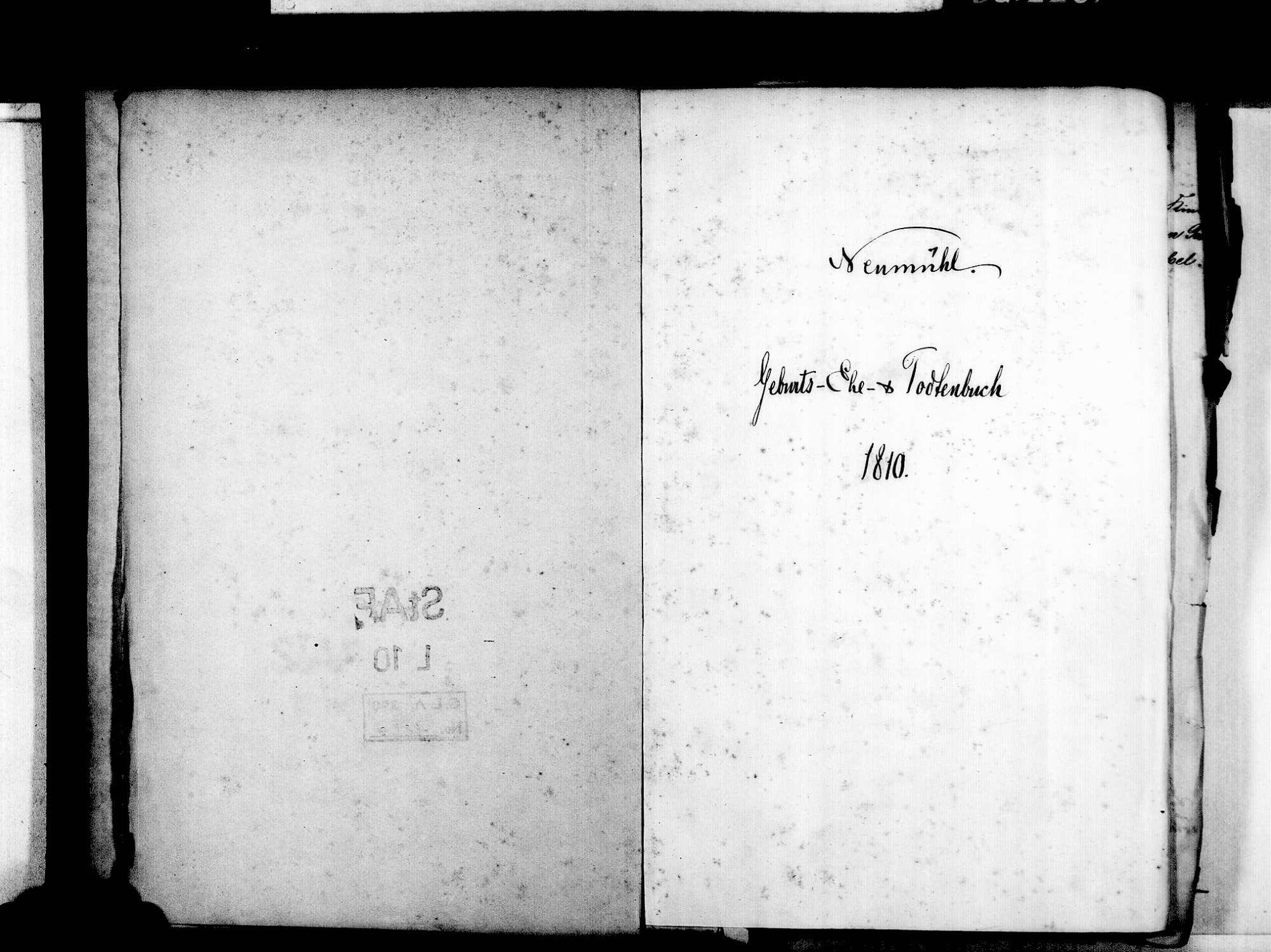 Neumühl, Kehl OG; Evangelische Gemeinde: Standesbuch 1810-1837, Bild 3