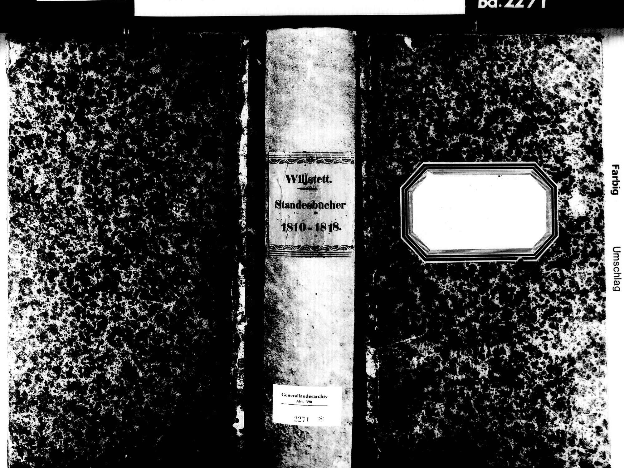Willstätt OG; Evangelische Gemeinde: Standesbuch 1810-1818, Bild 2