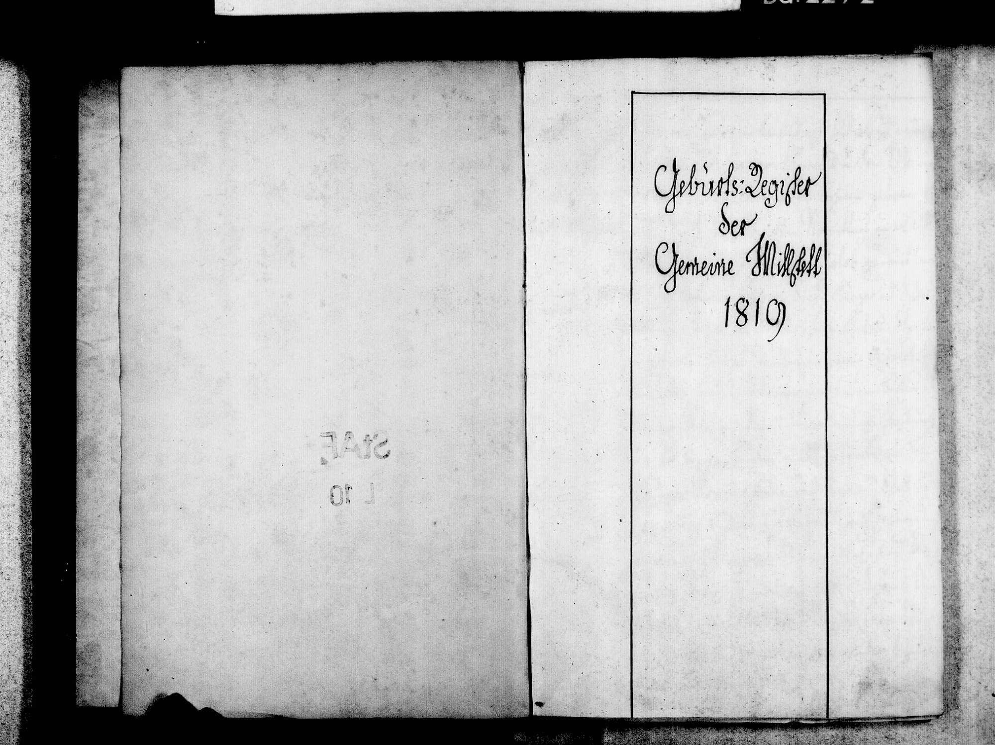 Willstätt OG; Evangelische Gemeinde: Standesbuch 1819-1831, Bild 3