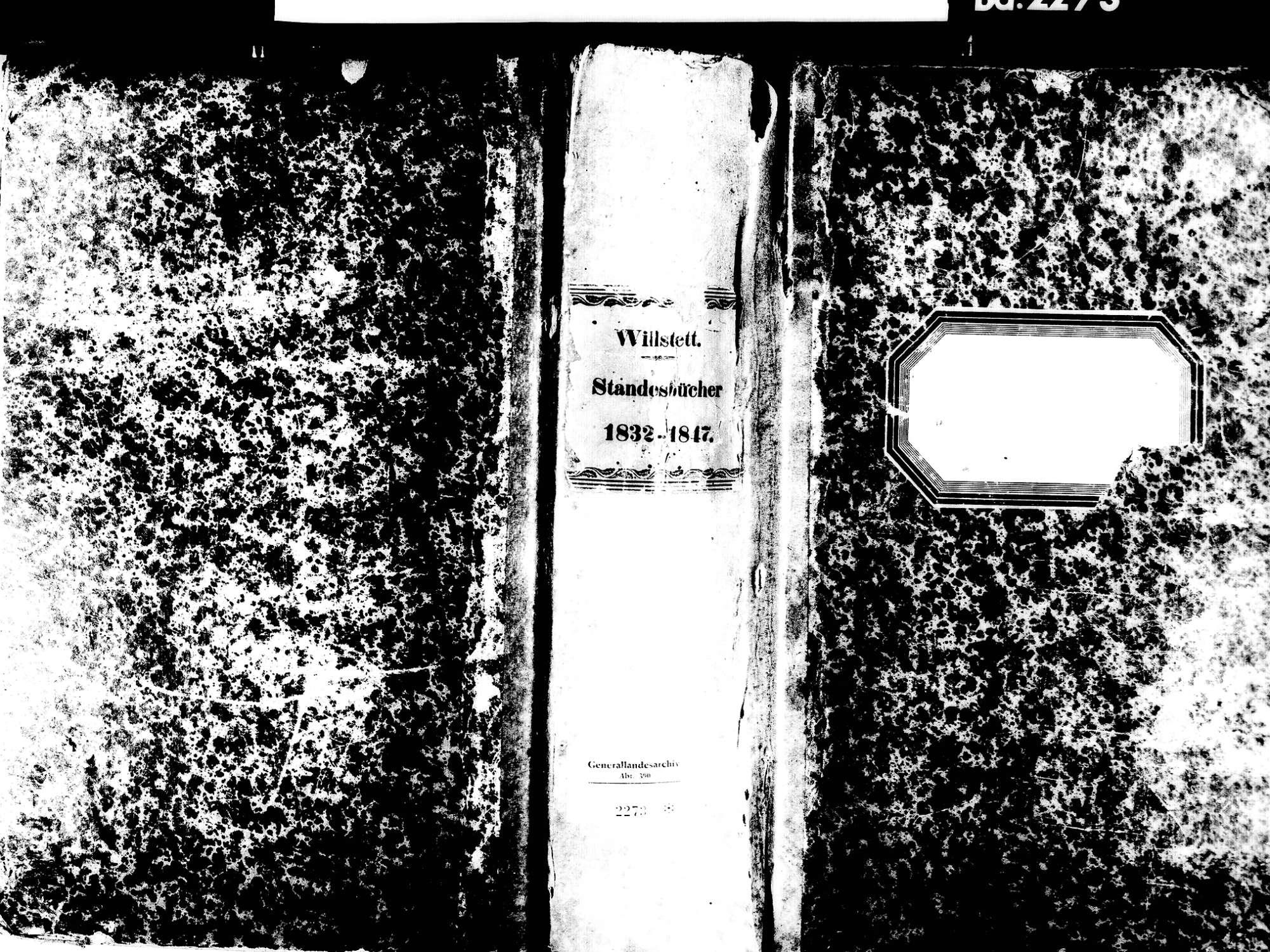 Willstätt OG; Evangelische Gemeinde: Standesbuch 1832-1847, Bild 1