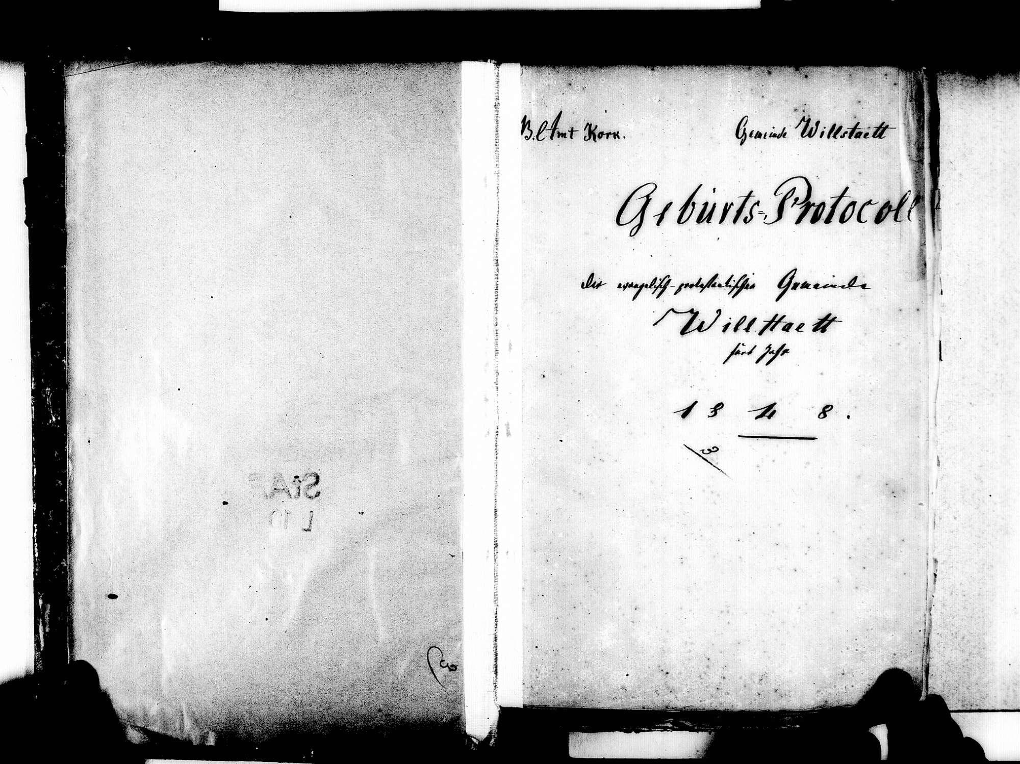 Willstätt OG; Evangelische Gemeinde: Standesbuch 1848-1870, Bild 3