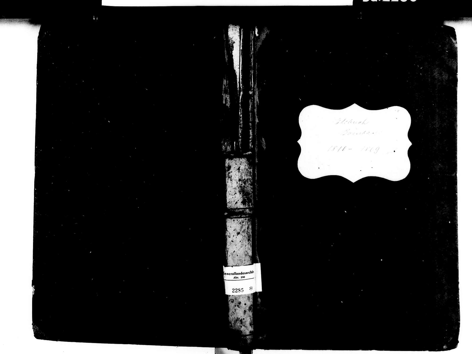 Bombach, Kenzingen EM; Katholische Gemeinde: Heiratsbuch 1810-1869, Bild 1