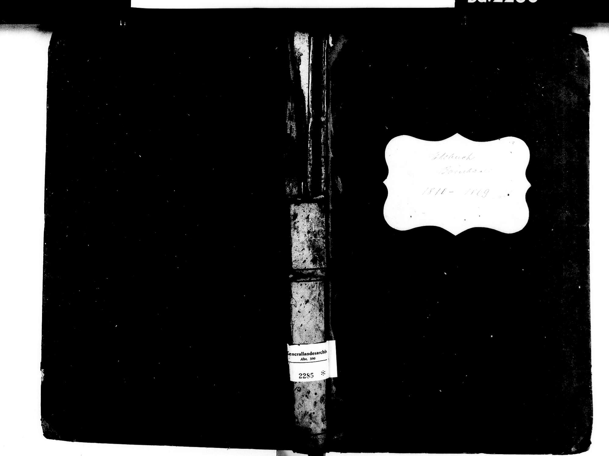 Bombach, Kenzingen EM; Katholische Gemeinde: Heiratsbuch 1810-1869, Bild 2