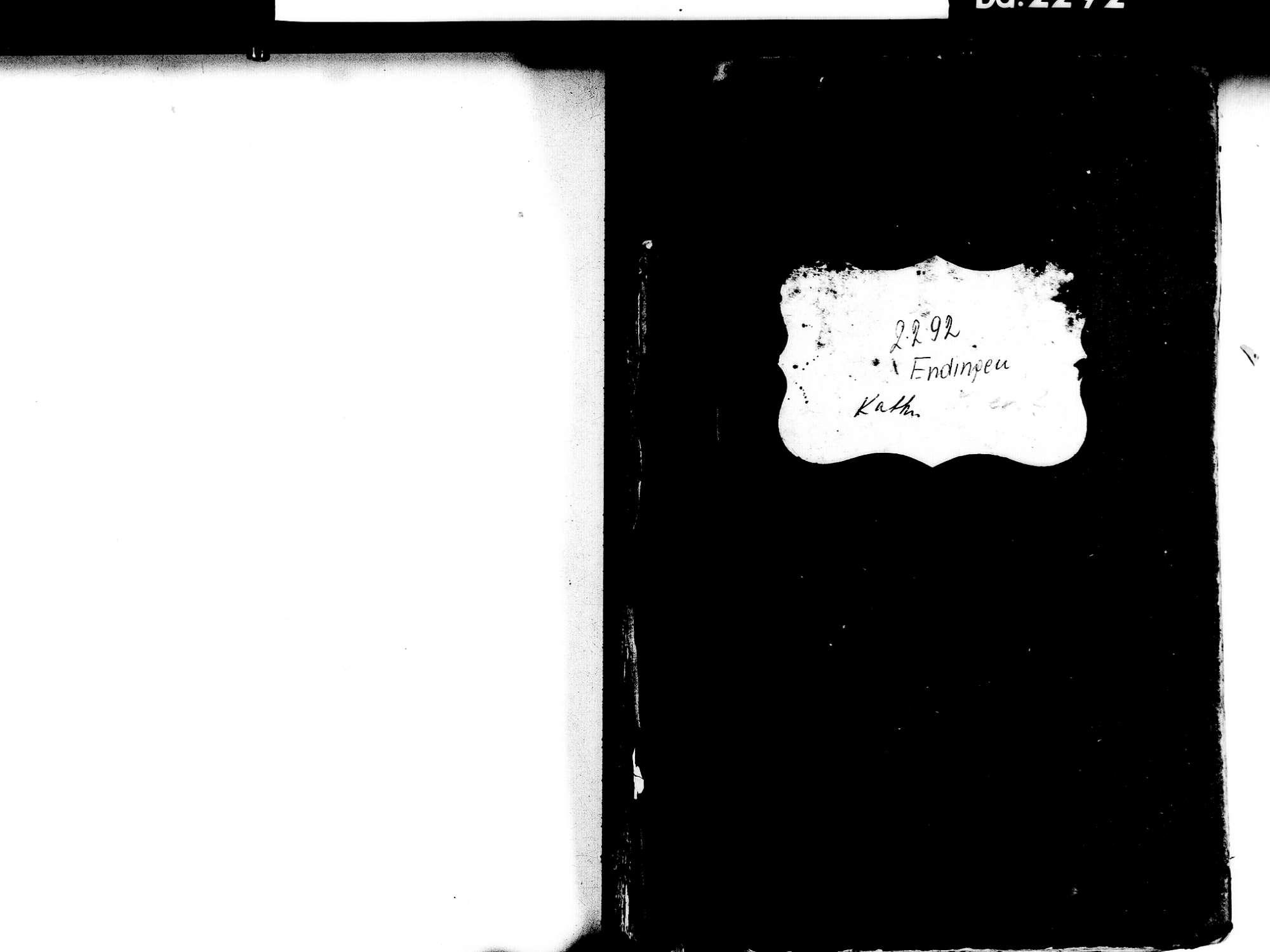 Endingen EM; Evangelische Gemeinde: Geburtenbuch 1830-1849 Endingen EM; Katholische Gemeinde: Geburtenbuch 1830-1849, Bild 2