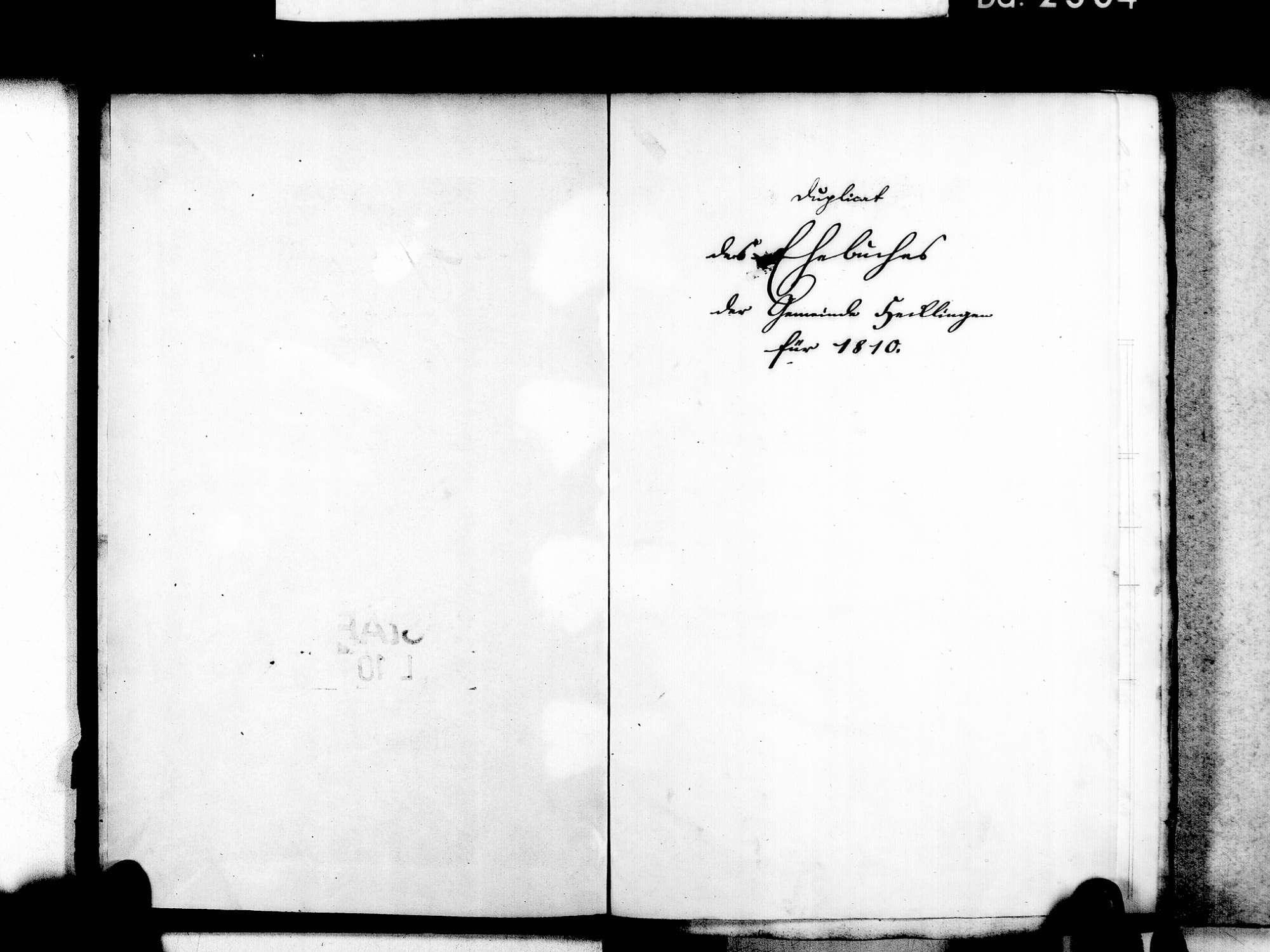 Hecklingen, Kenzingen EM; Katholische Gemeinde: Geburtenbuch 1861 Hecklingen, Kenzingen EM; Katholische Gemeinde: Heiratsbuch 1810-1869, Bild 3