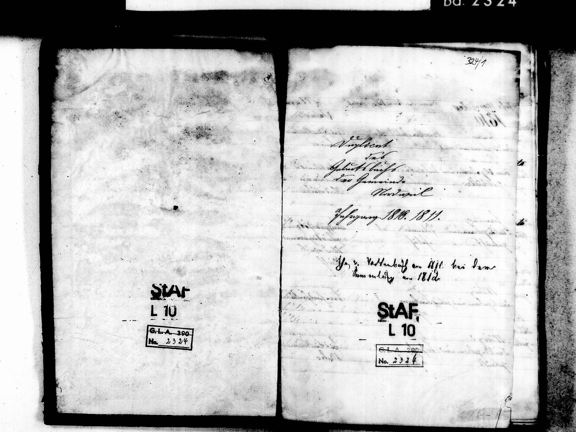 Nordweil, Kenzingen EM; Katholische Gemeinde: Geburtenbuch 1810-1836, Bild 3