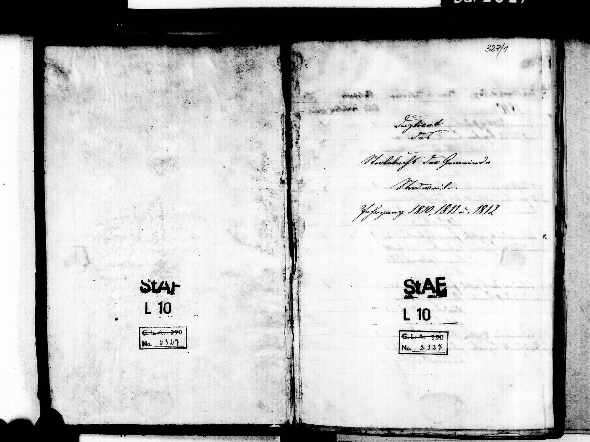 Nordweil, Kenzingen EM; Katholische Gemeinde: Sterbebuch 1810-1869, Bild 3