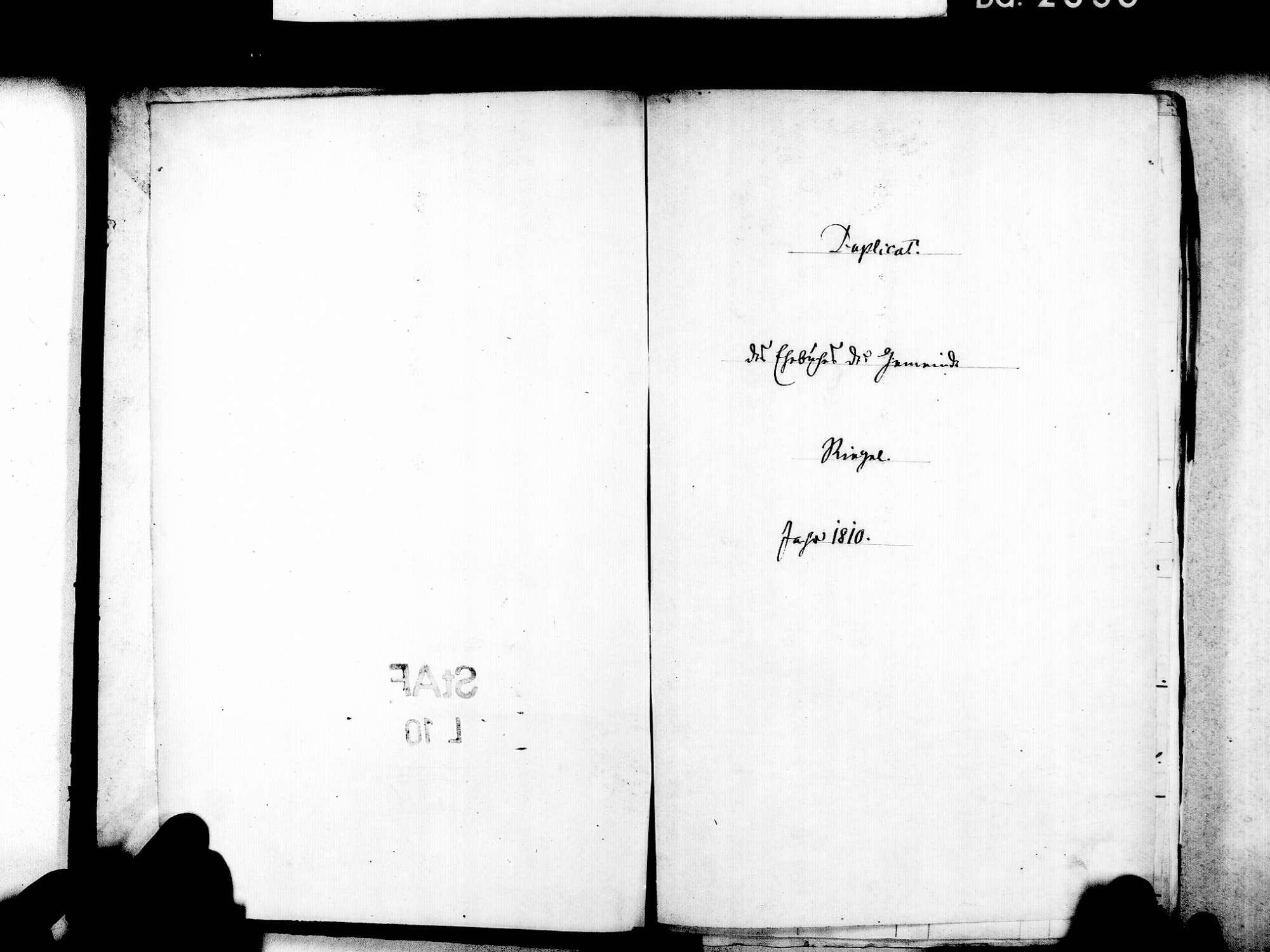 Riegel EM; Evangelische Gemeinde: Heiratsbuch 1810-1869 Riegel EM; Katholische Gemeinde: Heiratsbuch 1810-1869, Bild 3