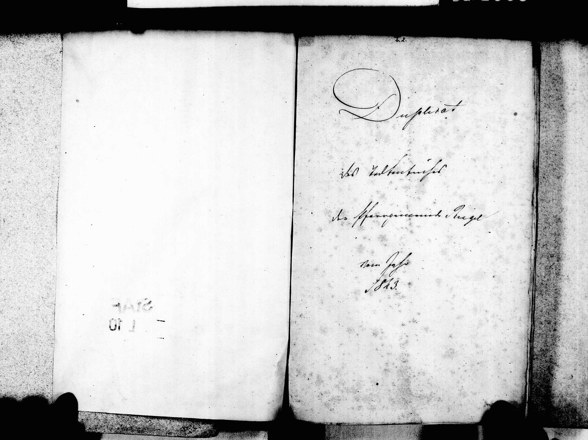 Riegel EM; Evangelische Gemeinde: Sterbebuch 1843-1869 Riegel EM; Katholische Gemeinde: Sterbebuch 1843-1869, Bild 3