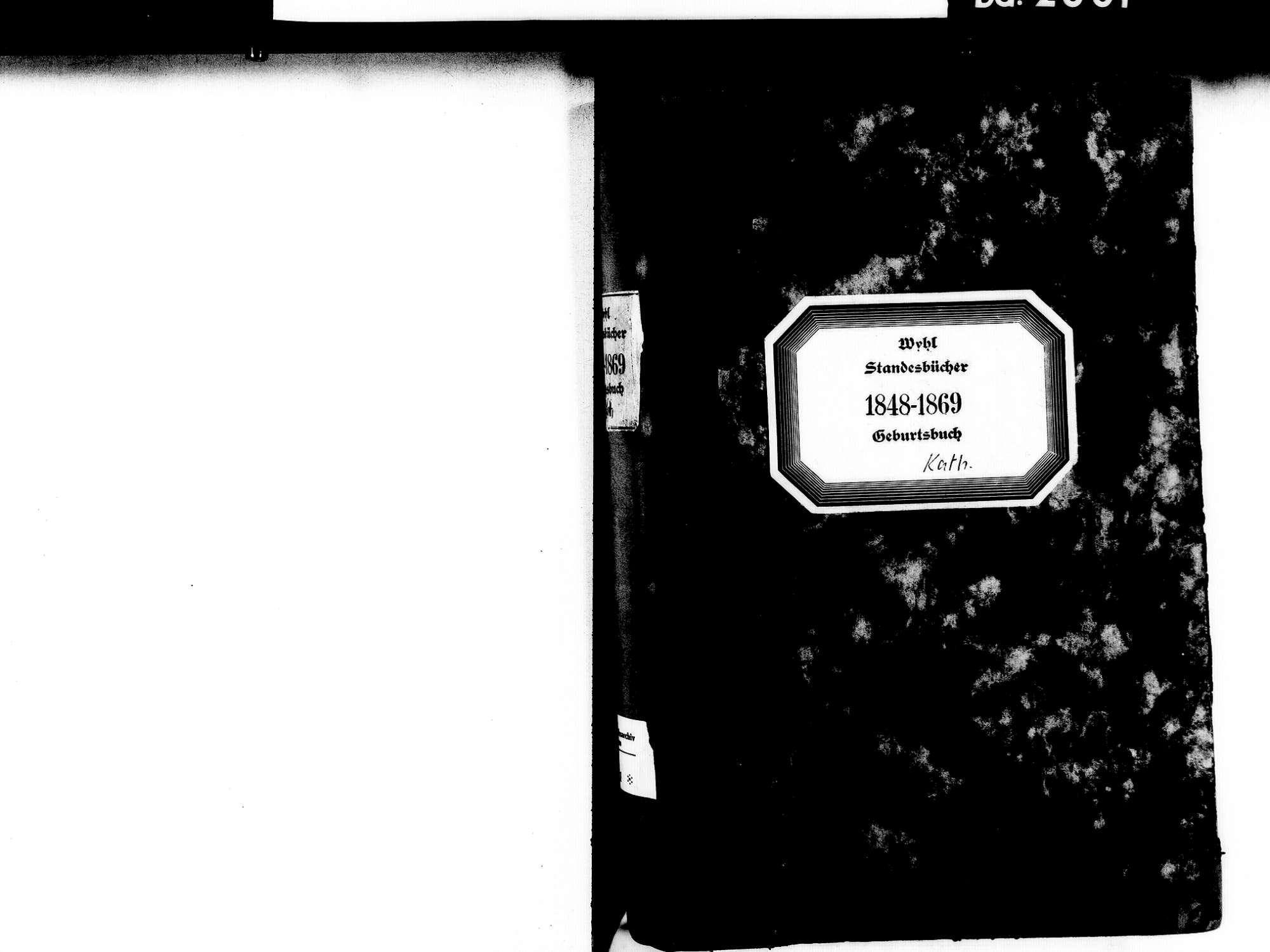 Wyhl EM; Katholische Gemeinde: Geburtenbuch 1848-1869, Bild 2