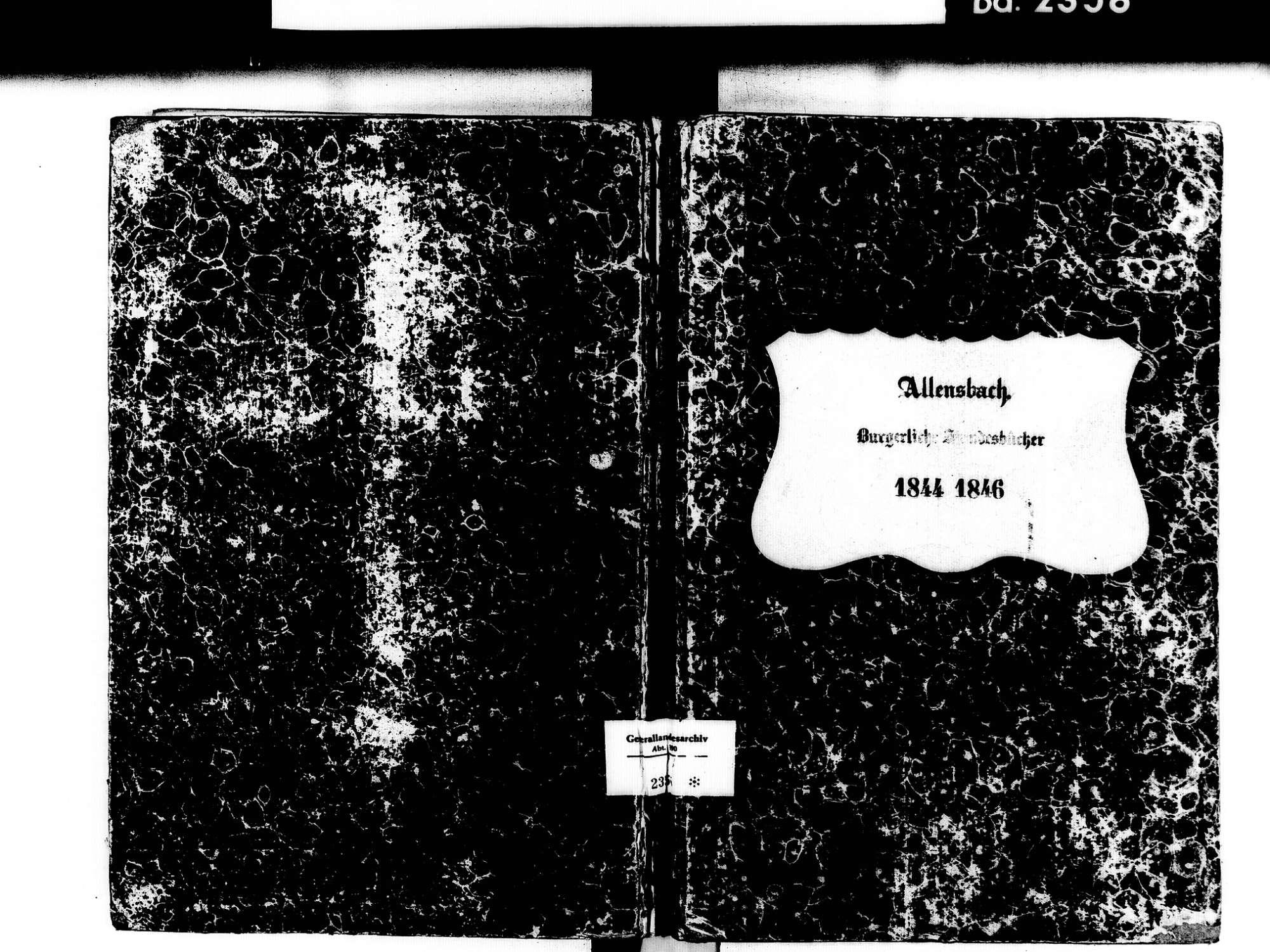 Allensbach KN; Kathollische Gemeinde: Standesbuch 1844-1846, Bild 1