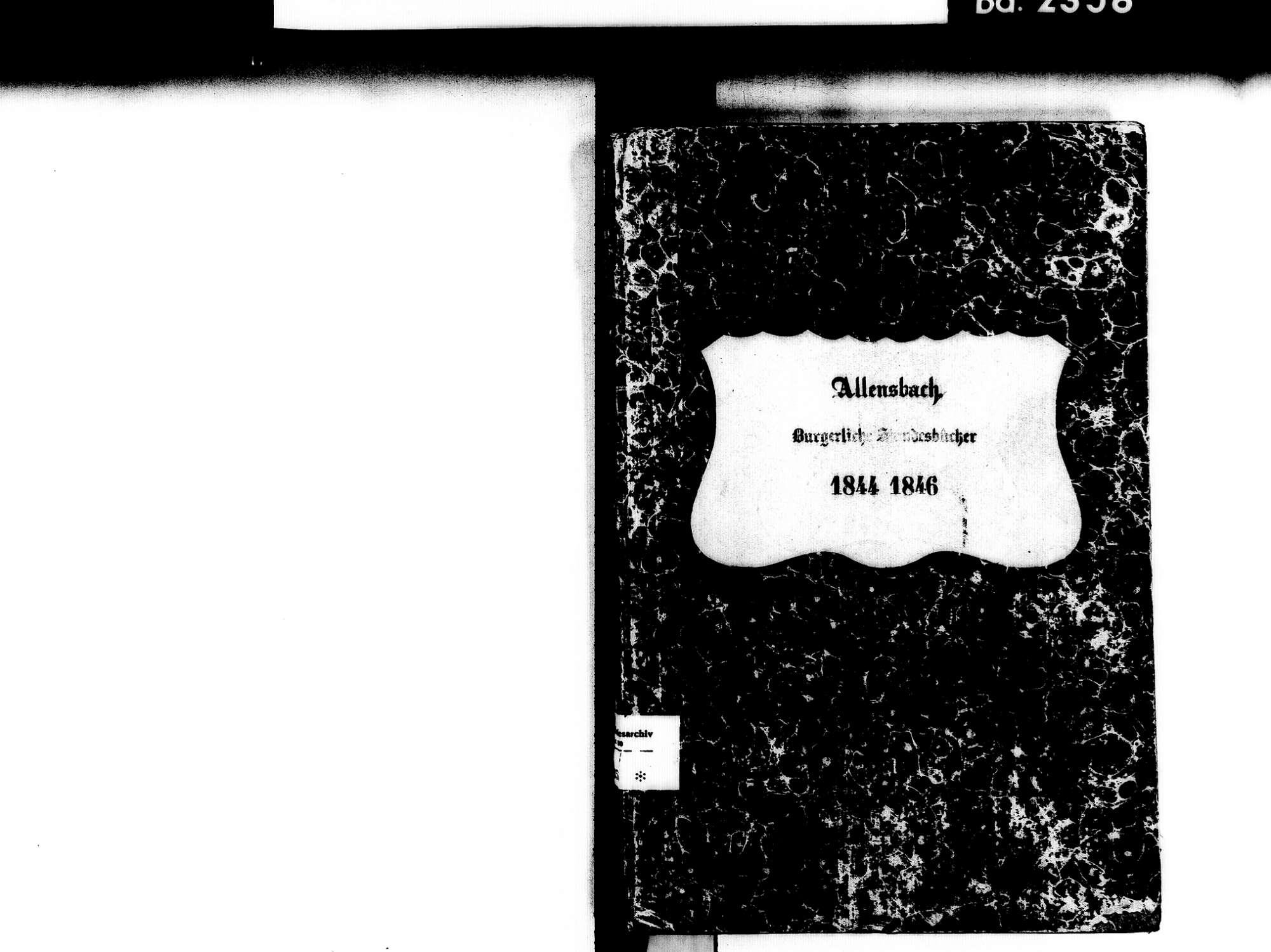 Allensbach KN; Kathollische Gemeinde: Standesbuch 1844-1846, Bild 2