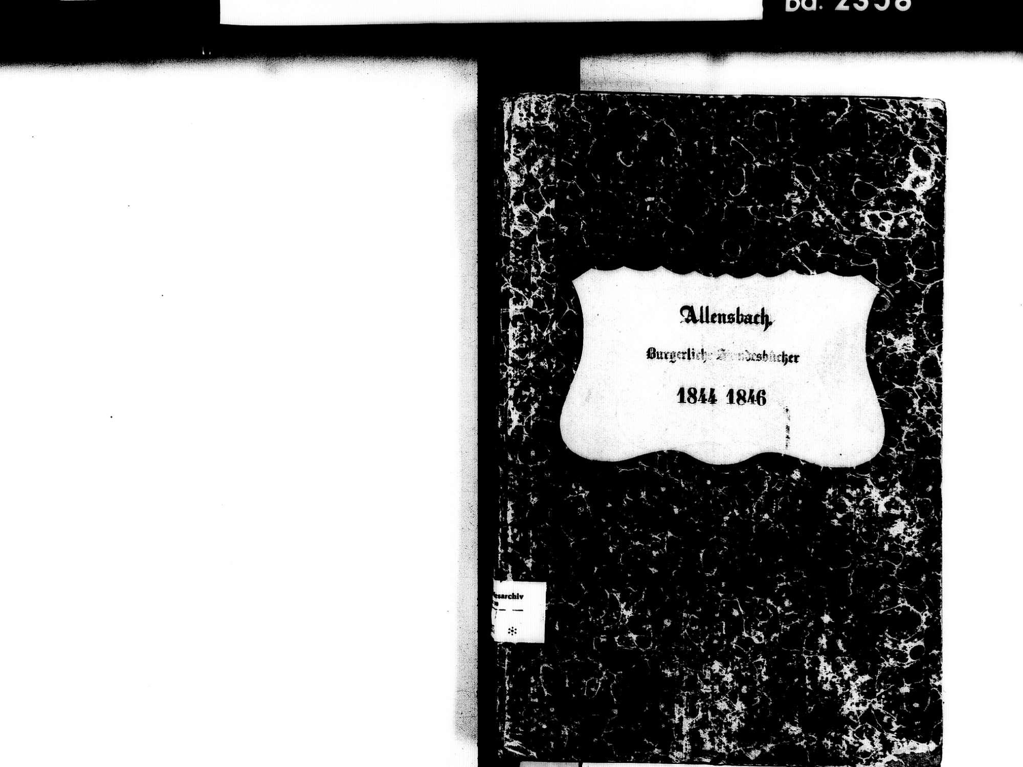 Allensbach KN; Kathollische Gemeinde: Standesbuch 1844-1846, Bild 3