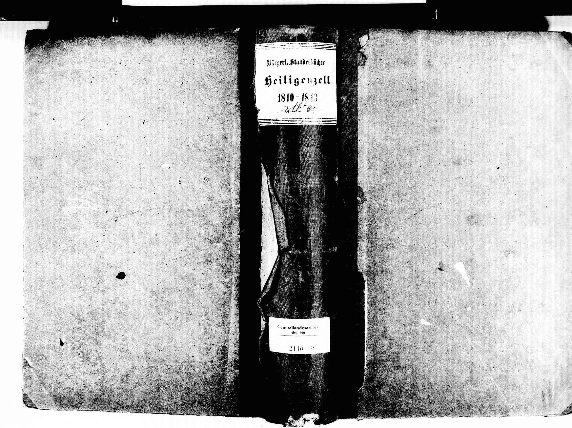 Heiligenzell, Friesenheim OG; Evangelische Gemeinde: Standesbuch 1810-1843 Heiligenzell, Friesenheim OG; Katholische Gemeinde: Standesbuch 1810-1843, Bild 1