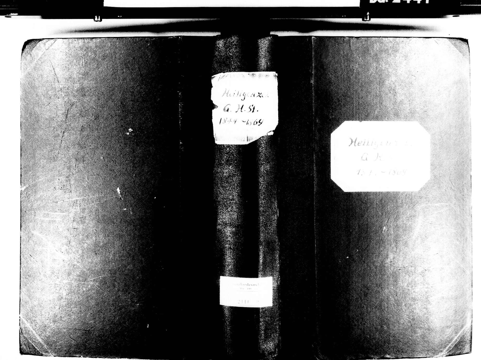 Heiligenzell, Friesenheim OG; Evangelische Gemeinde: Standesbuch 1844-1869 Heiligenzell, Friesenheim OG; Katholische Gemeinde: Standesbuch 1844-1869, Bild 1