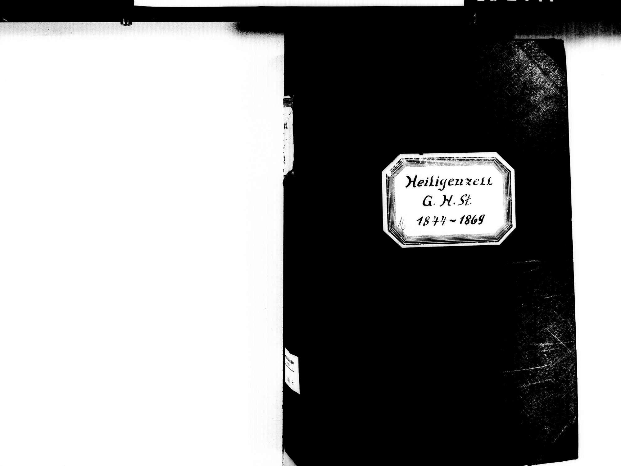 Heiligenzell, Friesenheim OG; Evangelische Gemeinde: Standesbuch 1844-1869 Heiligenzell, Friesenheim OG; Katholische Gemeinde: Standesbuch 1844-1869, Bild 3