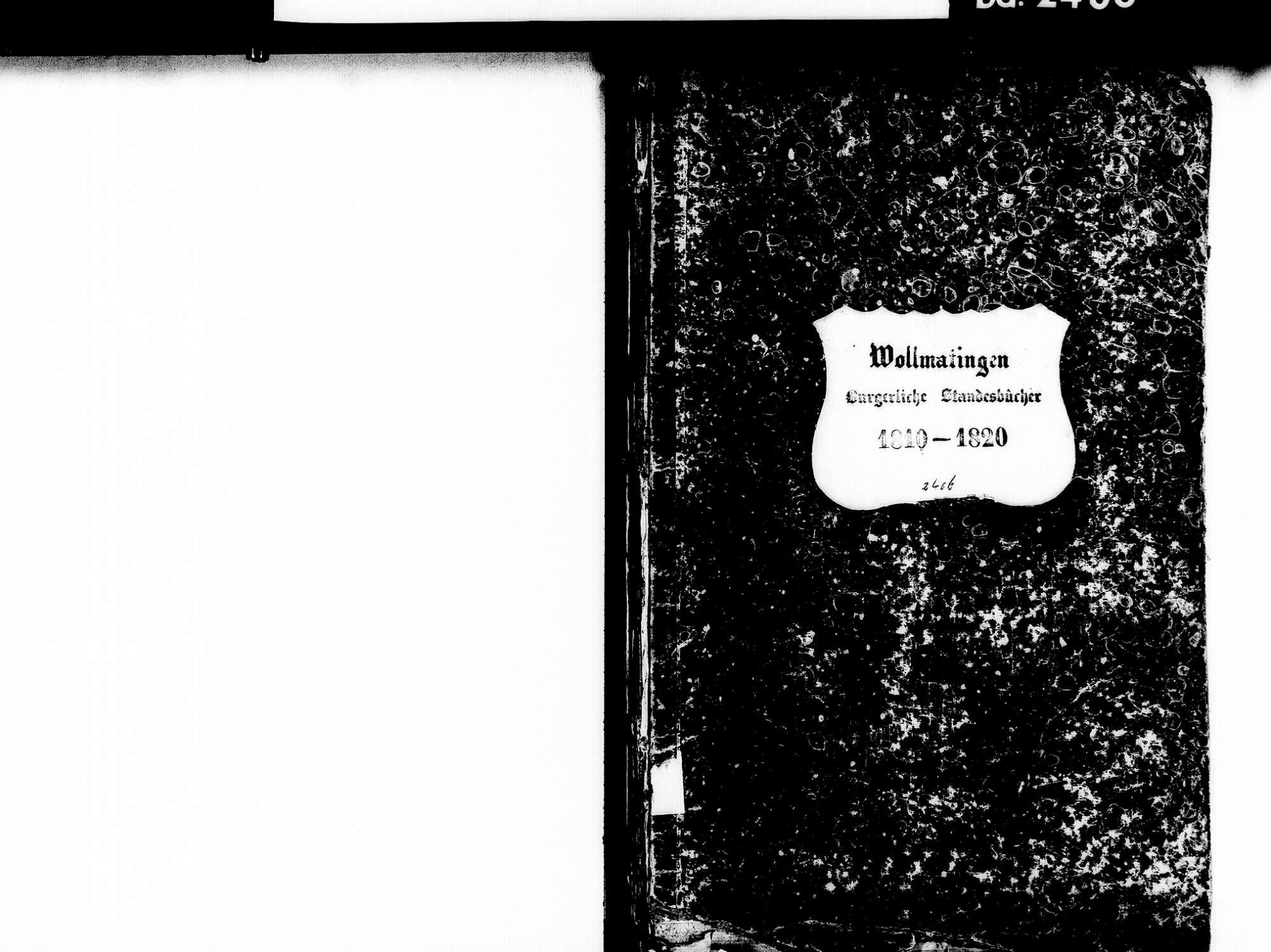 Wollmatingen, Konstanz KN; Katholische Gemeinde: Standesbuch 1810-1820, Bild 2