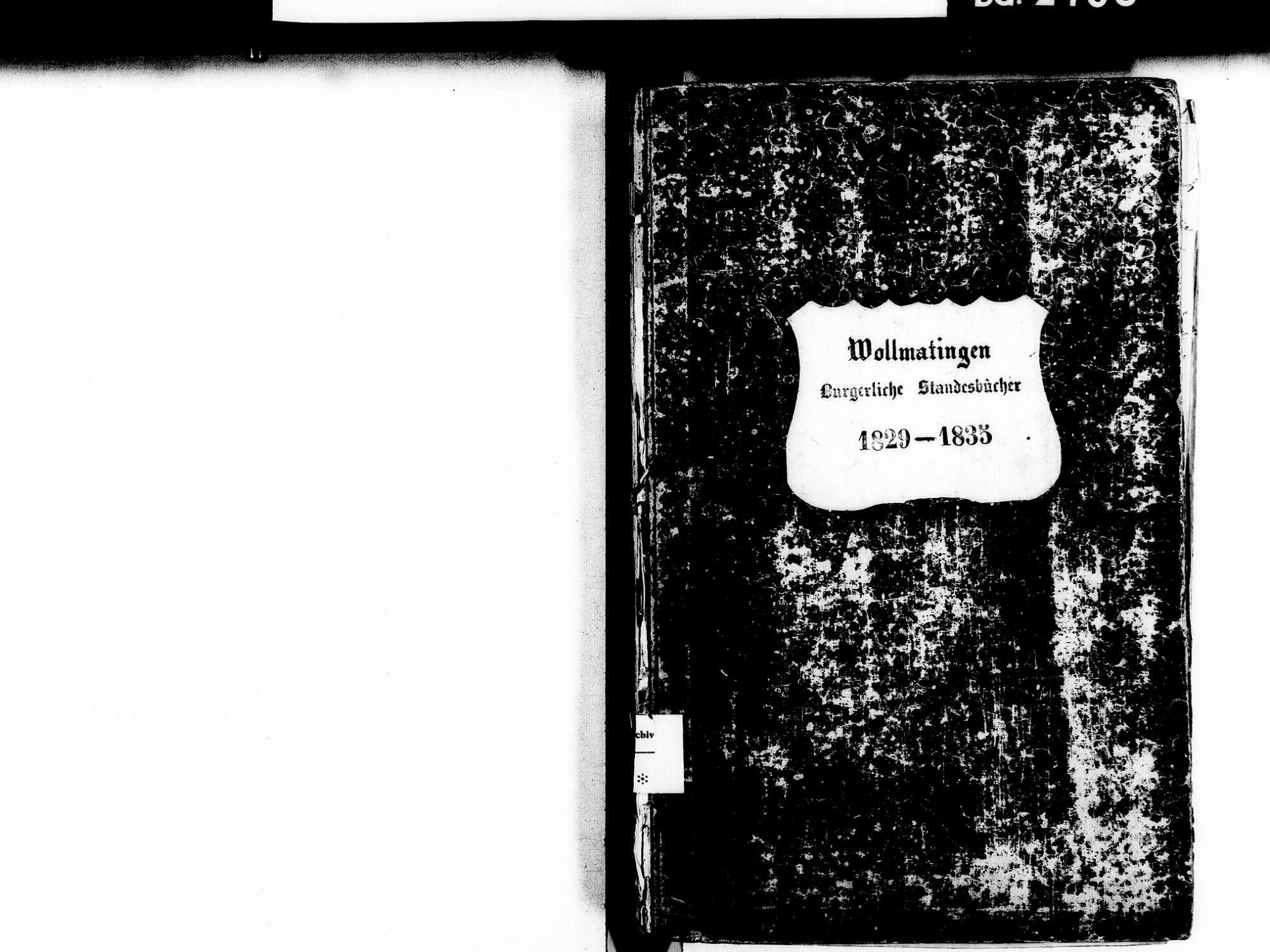 Wollmatingen, Konstanz KN; Katholische Gemeinde: Standesbuch 1829-1835, Bild 2