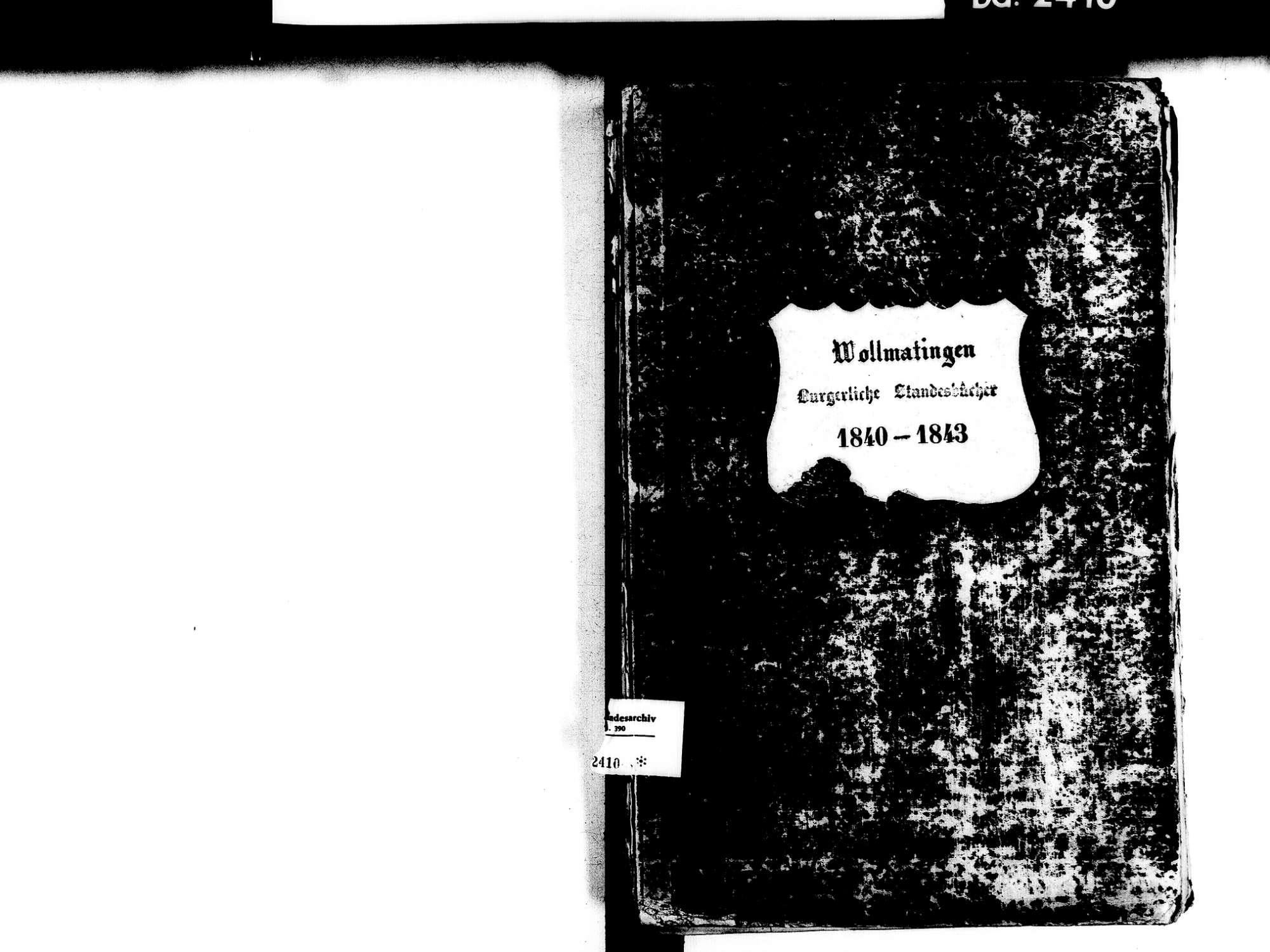Wollmatingen, Konstanz KN; Katholische Gemeinde: Standesbuch 1840-1843, Bild 2