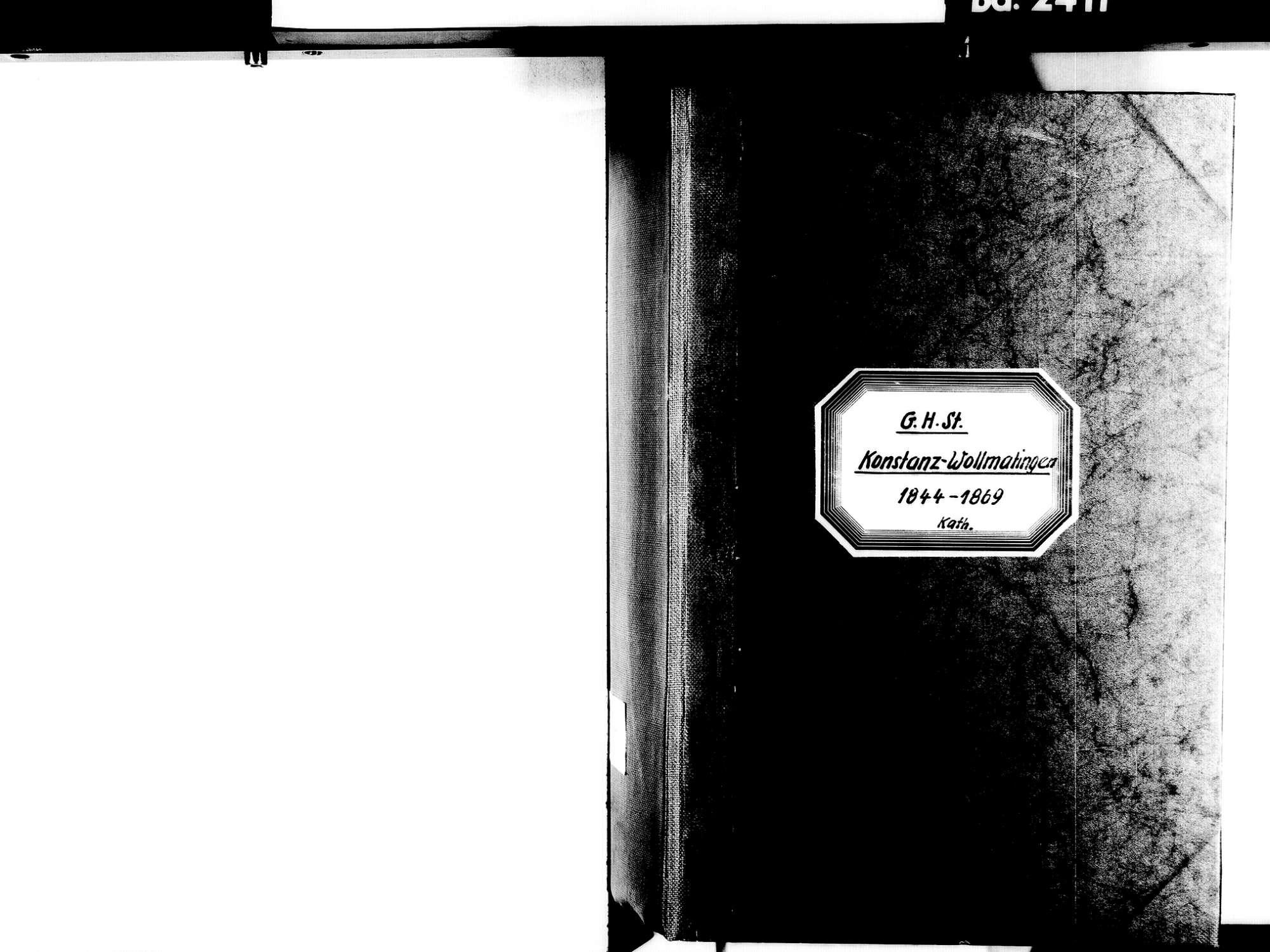 Wollmatingen, Konstanz KN; Katholische Gemeinde: Standesbuch 1844-1869, Bild 2
