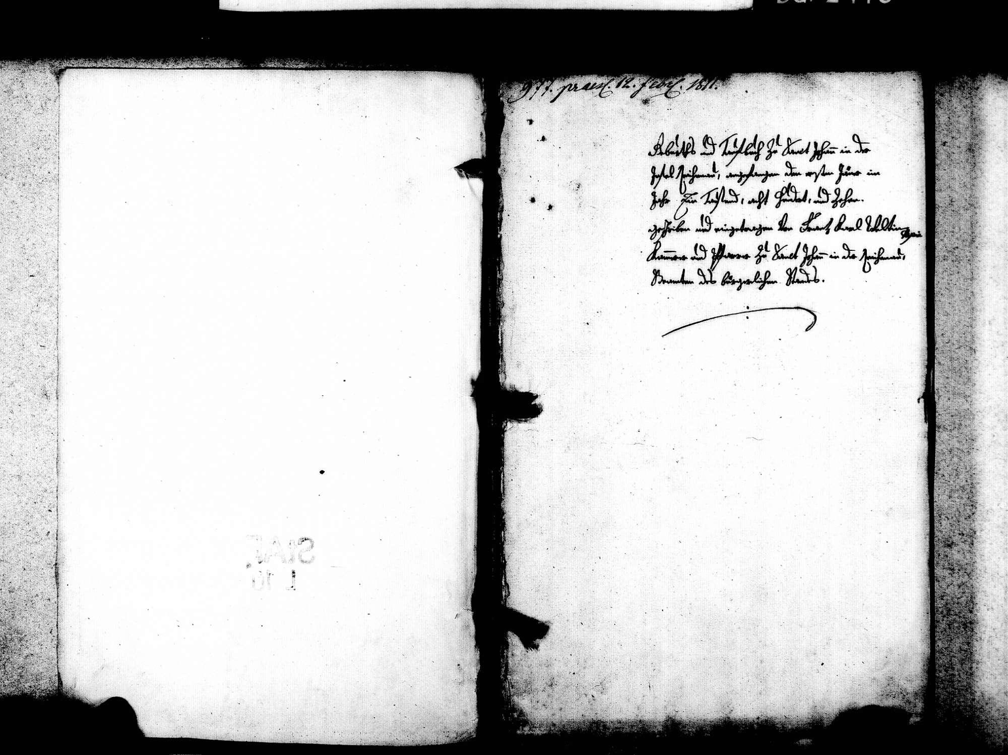 Mittelzell, Reichenau KN; Katholische Gemeinde: Standesbuch 1810-1812, Bild 3