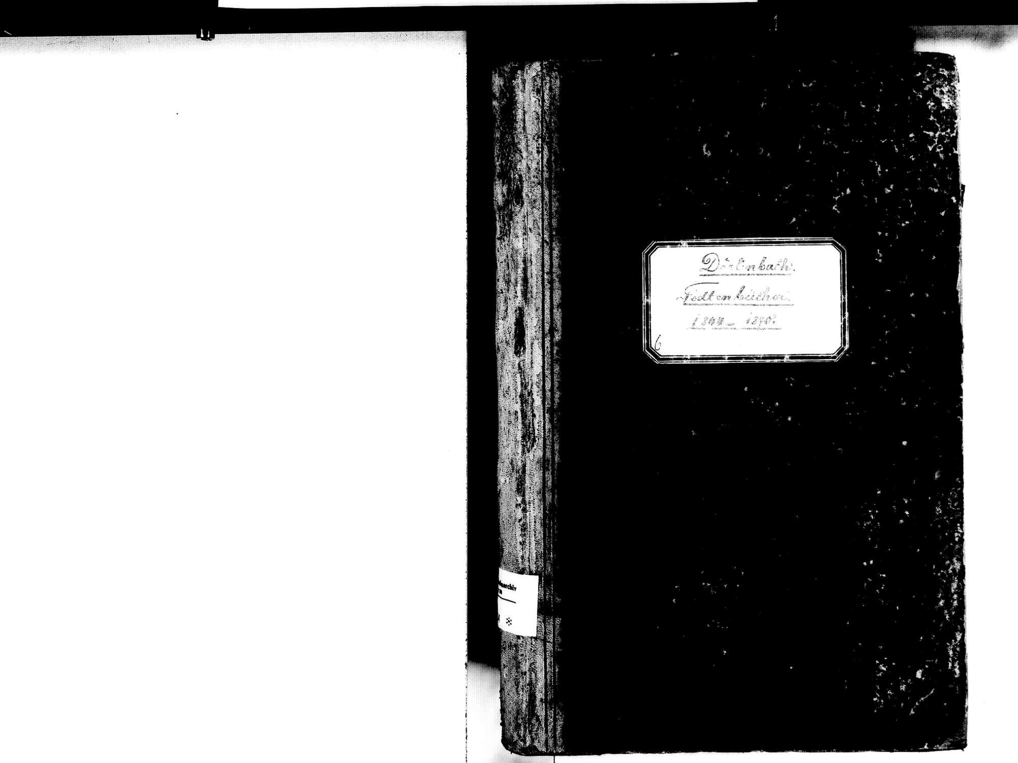 Dörlinbach, Schuttertal OG; Katholische Gemeinde: Sterbebuch 1844-1870, Bild 2