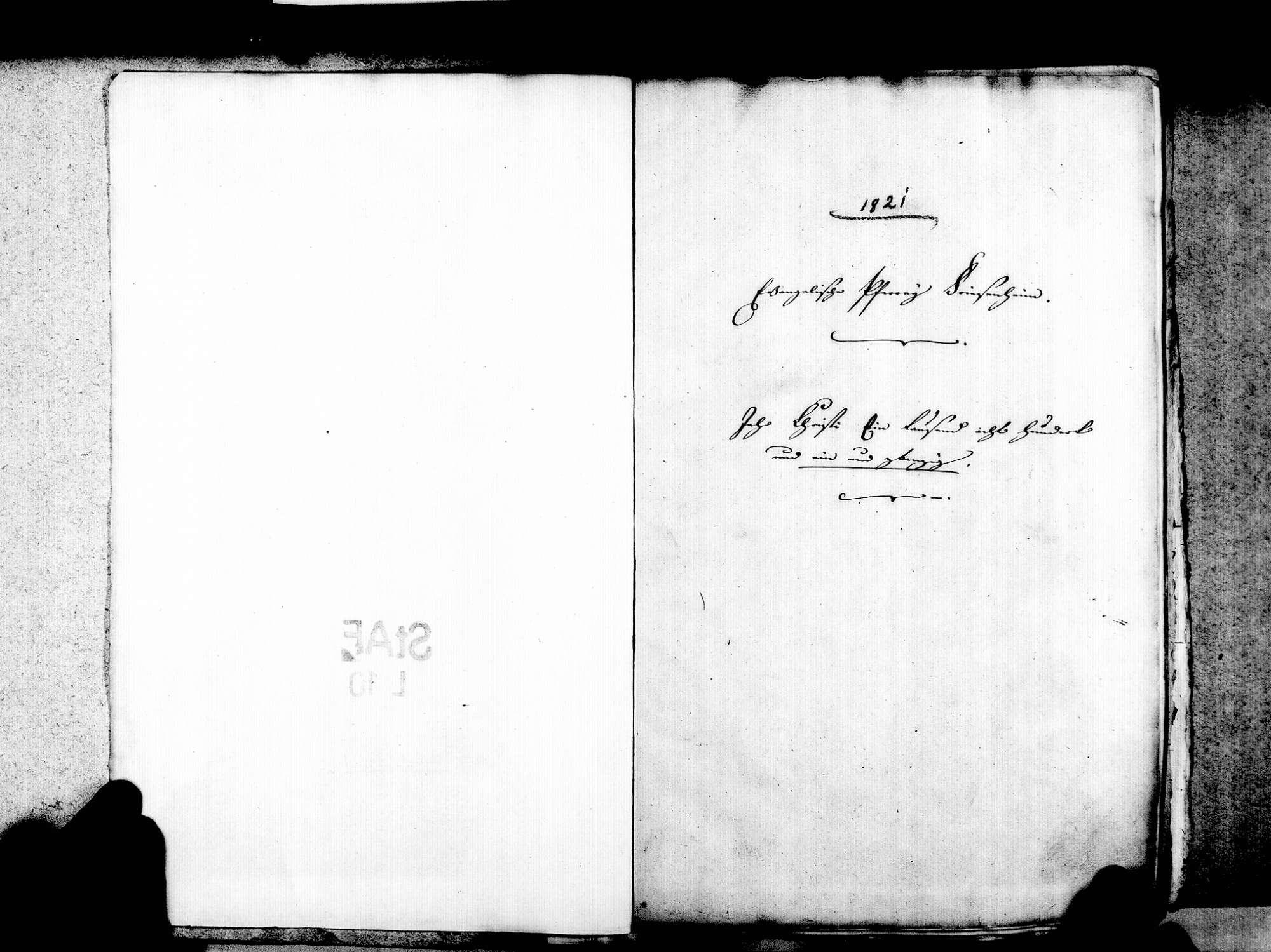 Friesenheim OG; Evangelische Gemeinde: Standesbuch 1821-1835 Friesenheim OG; Katholische Gemeinde: Standesbuch 1821-1835 Friesenheim OG; Israelitische Gemeinde: Standesbuch 1821-1835, Bild 3