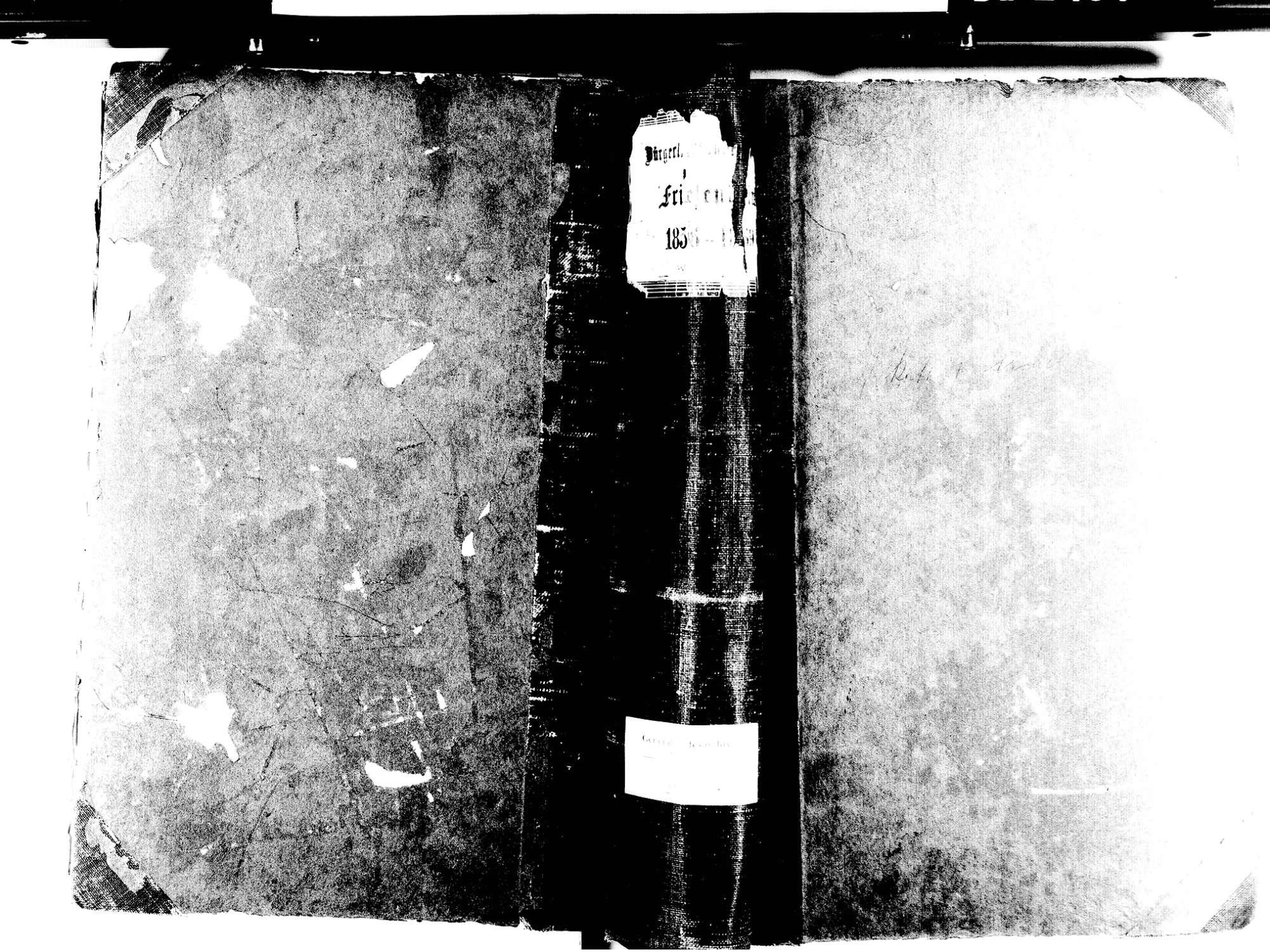 Friesenheim OG; Evangelische Gemeinde: Standesbuch 1856-1869 Friesenheim OG; Katholische Gemeinde: Standesbuch 1856-1869 Friesenheim OG; Israelitische Gemeinde: Standesbuch 1856-1869, Bild 1