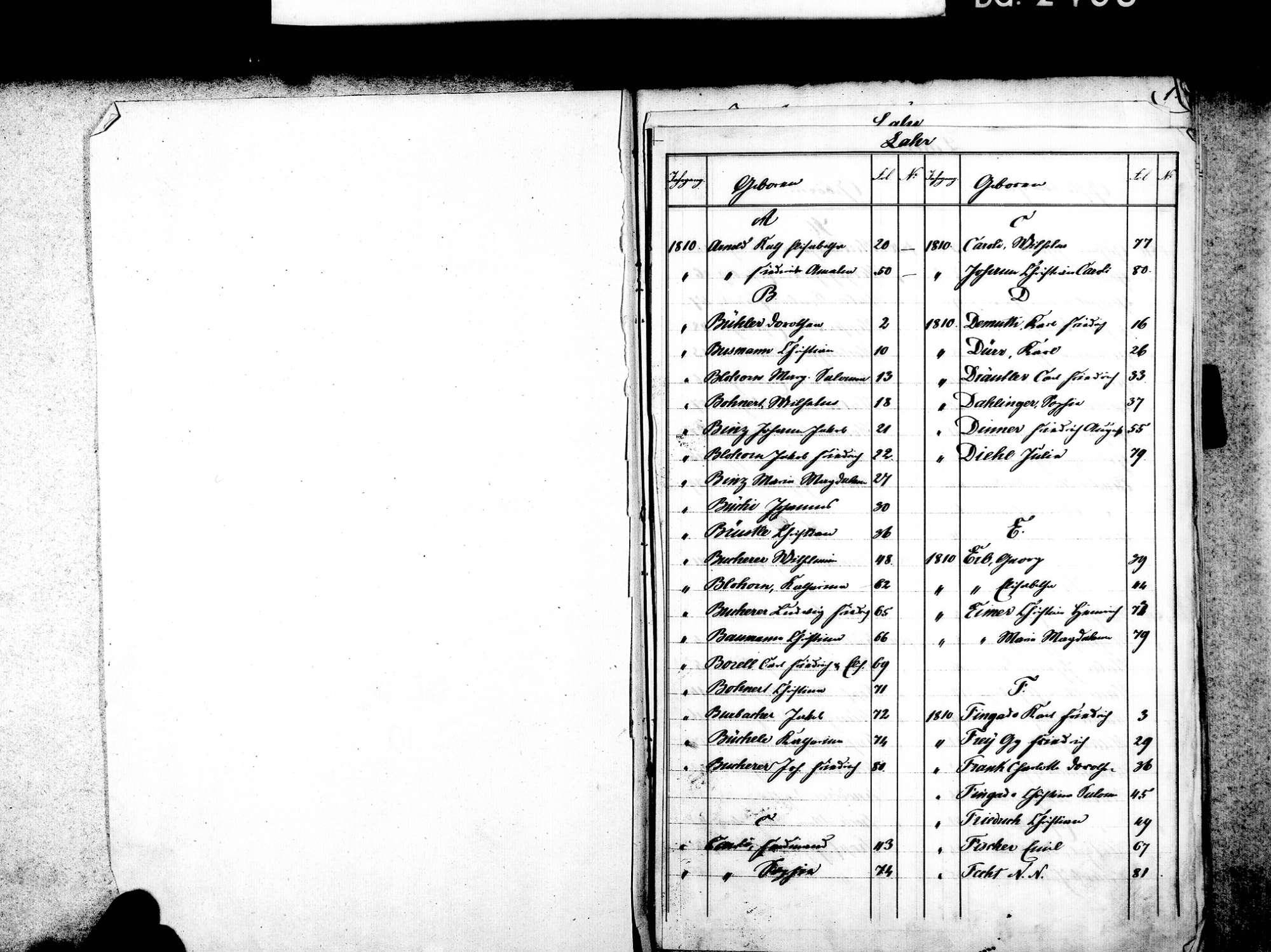 Lahr im Schwarzwald OG; Evangelische Gemeinde: Standesbuch 1810-1813, Bild 3