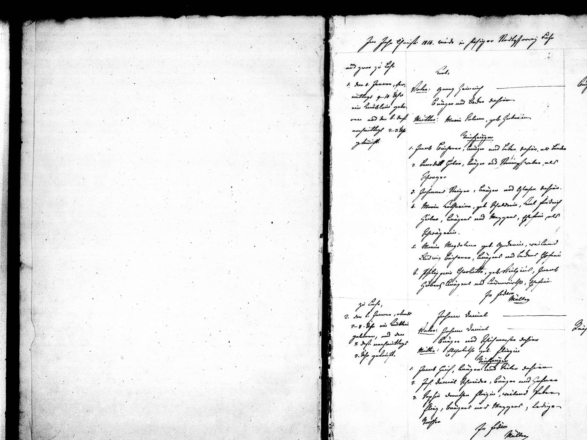 Lahr im Schwarzwald OG; Evangelische Gemeinde: Standesbuch 1814, Bild 3