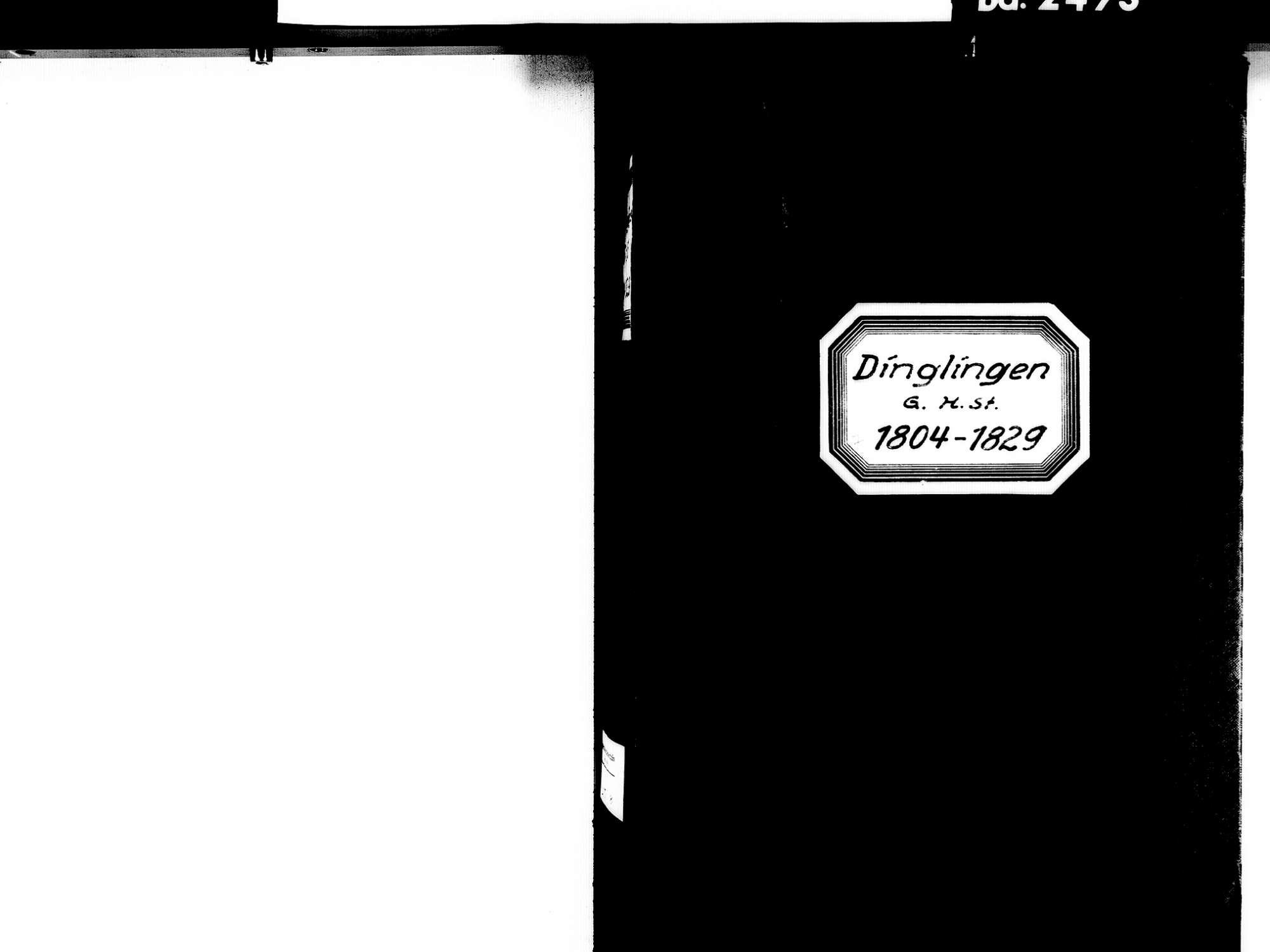 Dinglingen aufgegangen in Lahr im Schwarzwald OG; Evangelische Gemeinde: Standesbuch 1804-1829, Bild 2