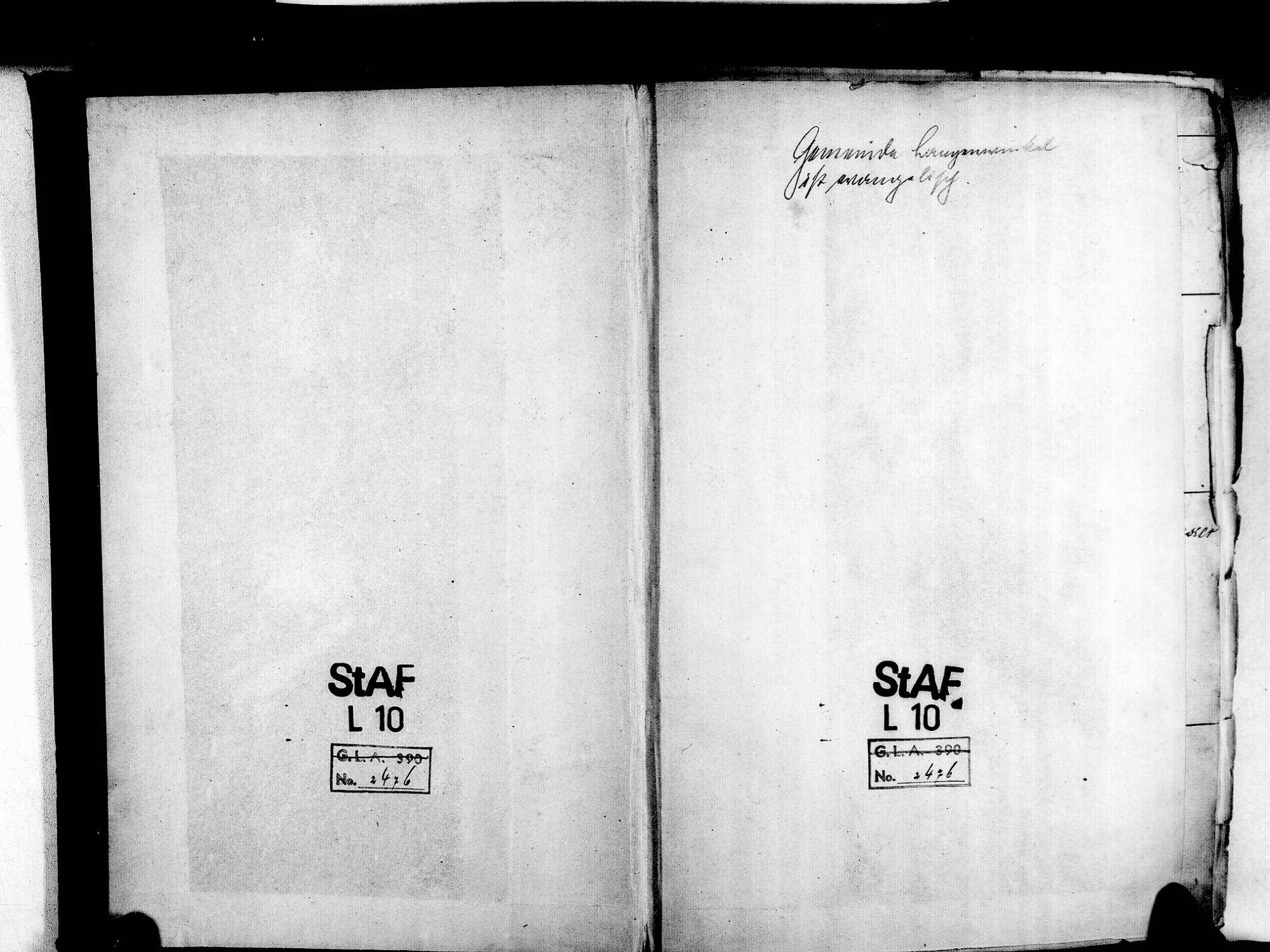 Langenwinkel, Lahr im Schwarzwald OG; Evangelische Gemeinde: Standesbuch 1804-1869 Langenwinkel, Lahr im Schwarzwald OG; Katholische Gemeinde: Standesbuch 1804-1869, Bild 2