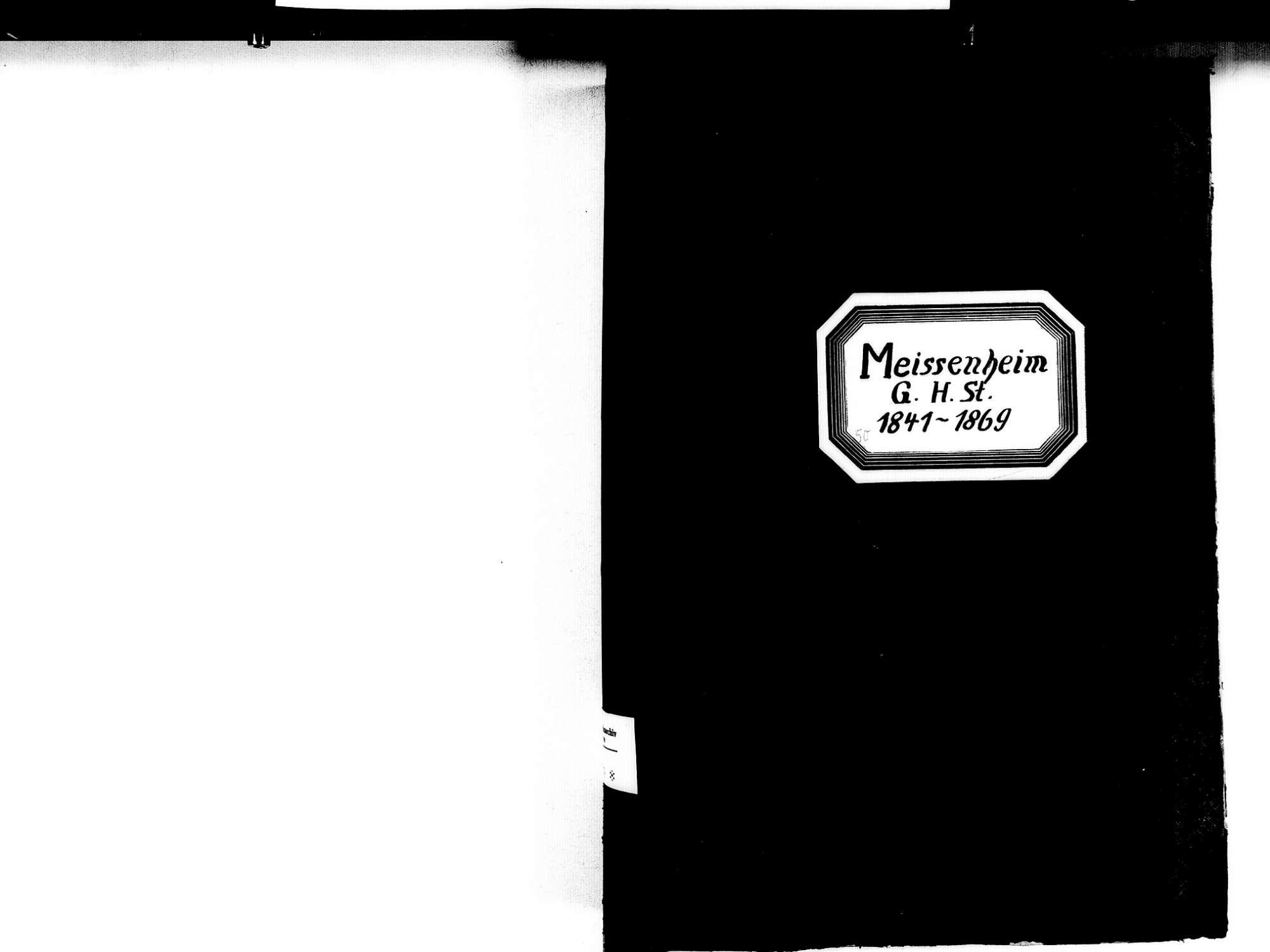 Meißenheim OG; Evangelische Gemeinde: Standesbuch 1841-1869, Bild 2